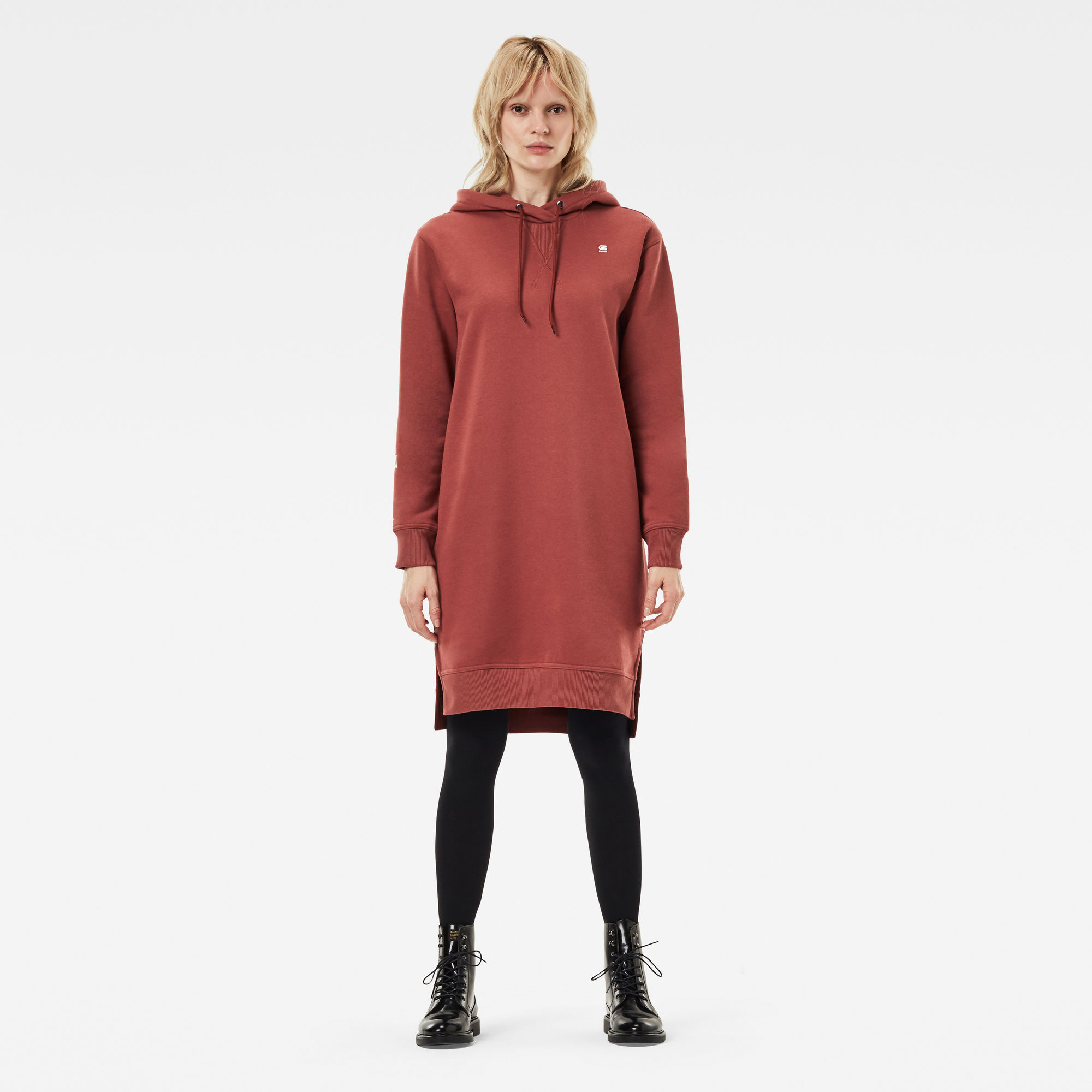 G-Star RAW Dames The Graphic Text Boyfriend Hooded Sweater Rood