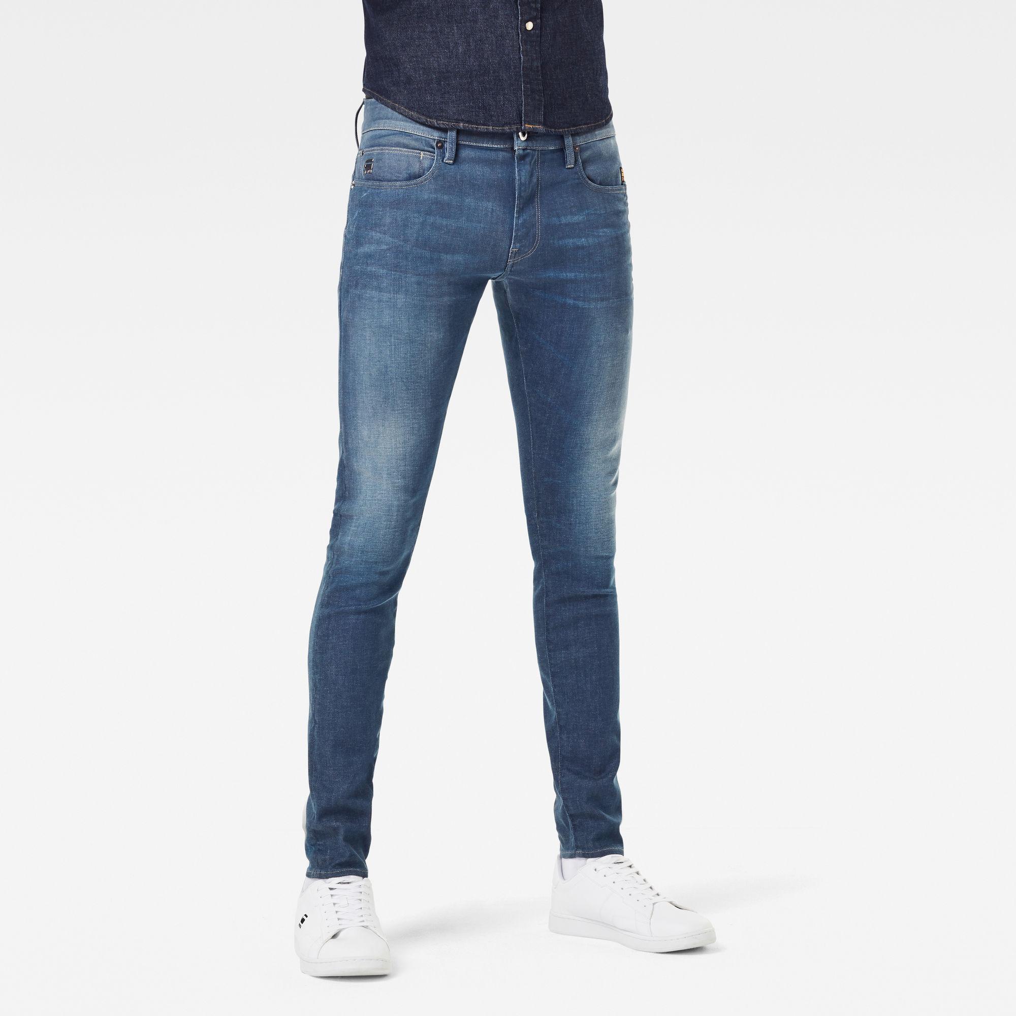 G-Star RAW Heren 4401 Lancet Skinny Jeans Blauw