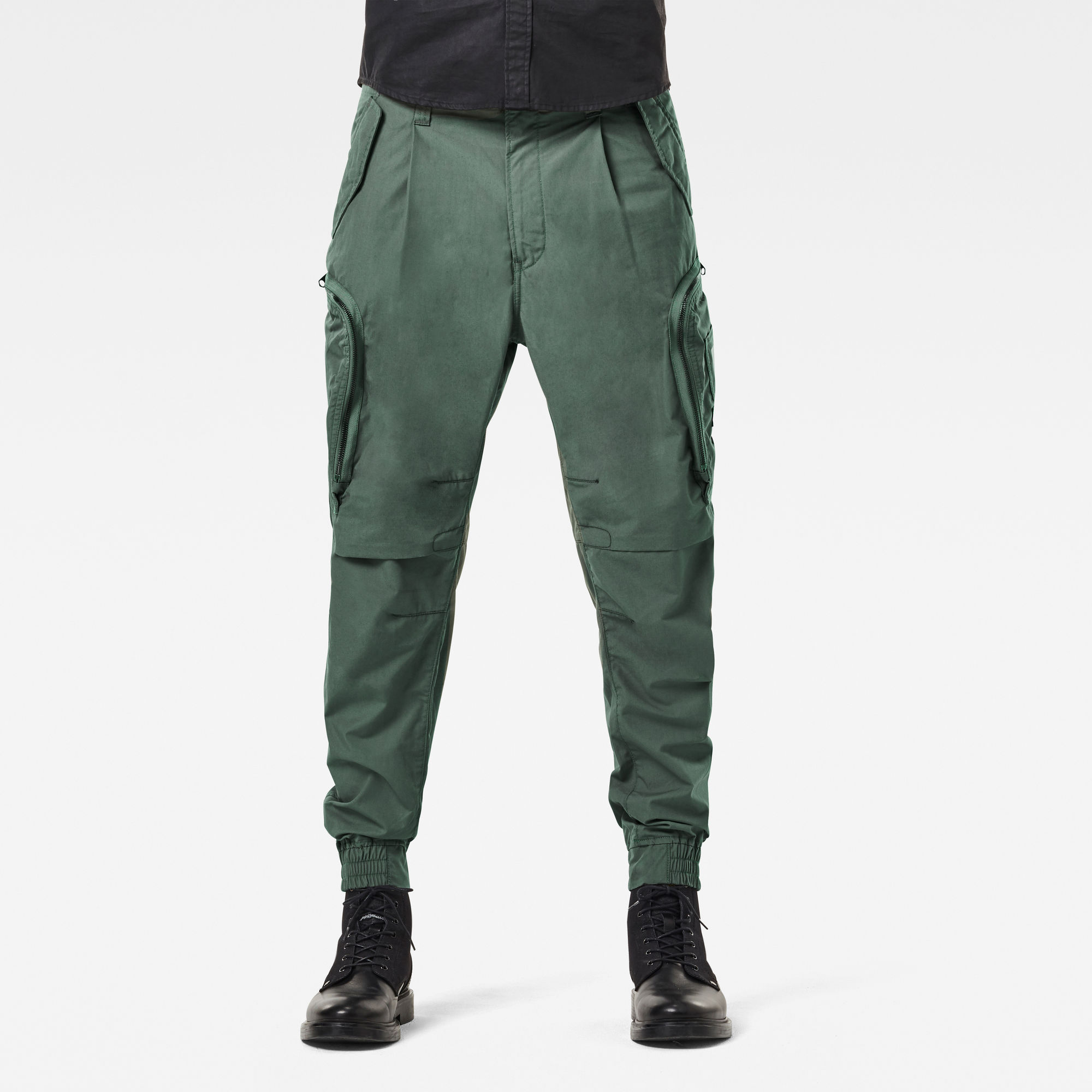 G-Star RAW Hombre Pantalones Flight Cargo Relaxed Tapered Cuffed Verde