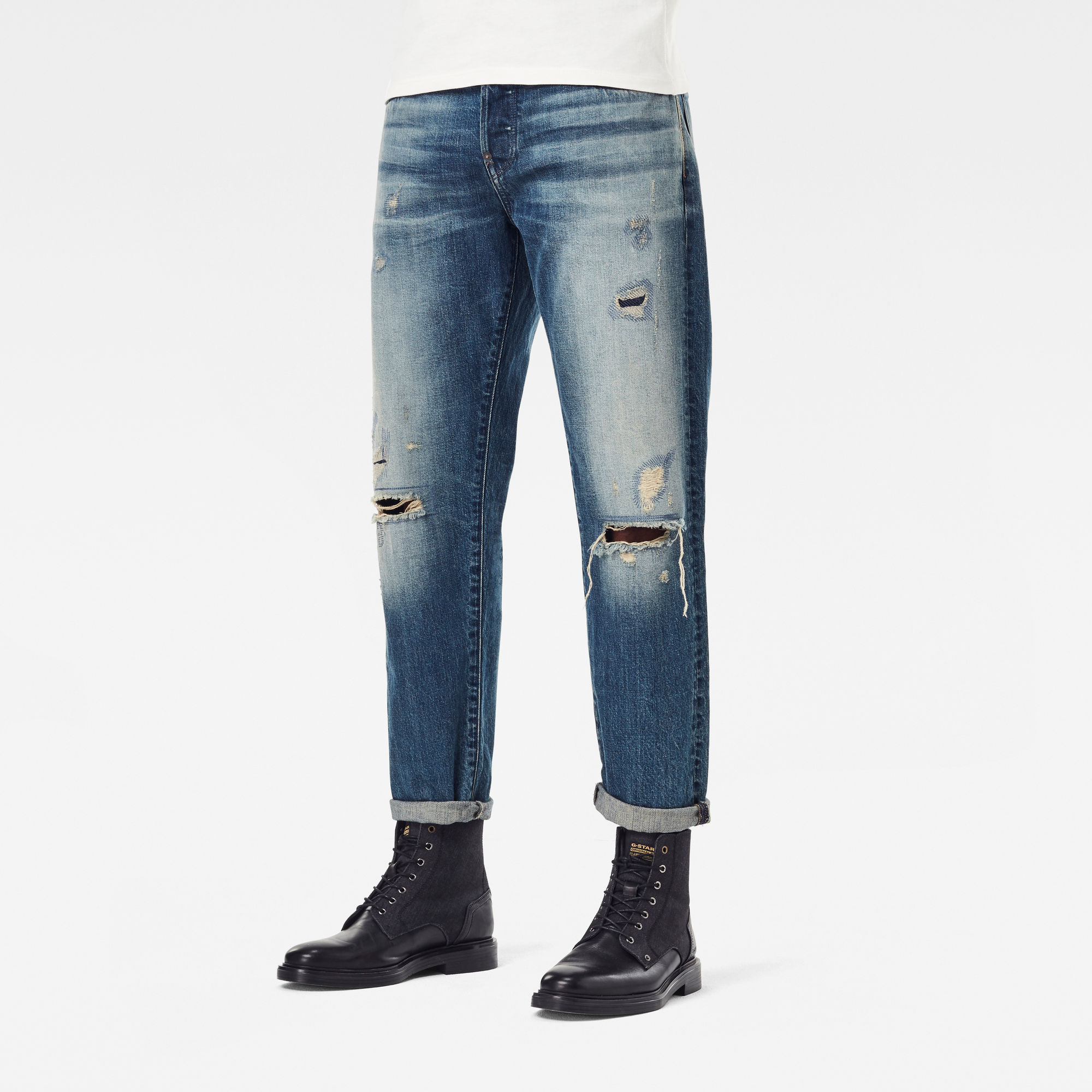 G-Star RAW Heren Alum Relaxed Tapered Originals 2 Jeans Blauw