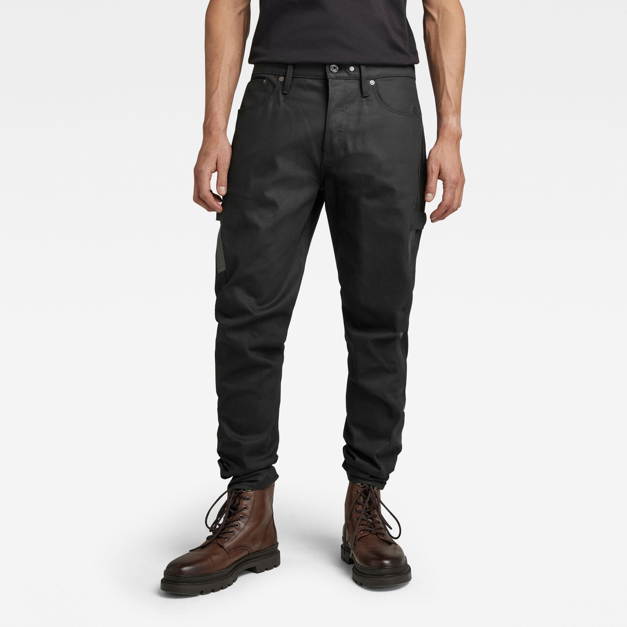 G-Star RAW Heren Scutar 3D Tapered Jeans CT Zwart
