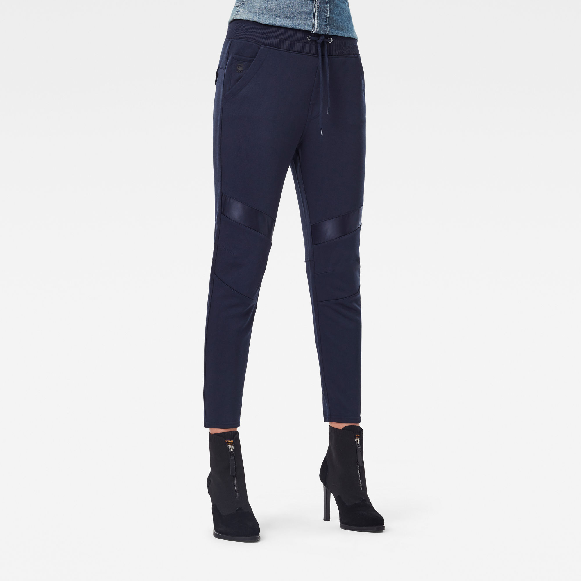 G-Star RAW Dames Motac 3D Tapered Cropped Sweatpants Donkerblauw