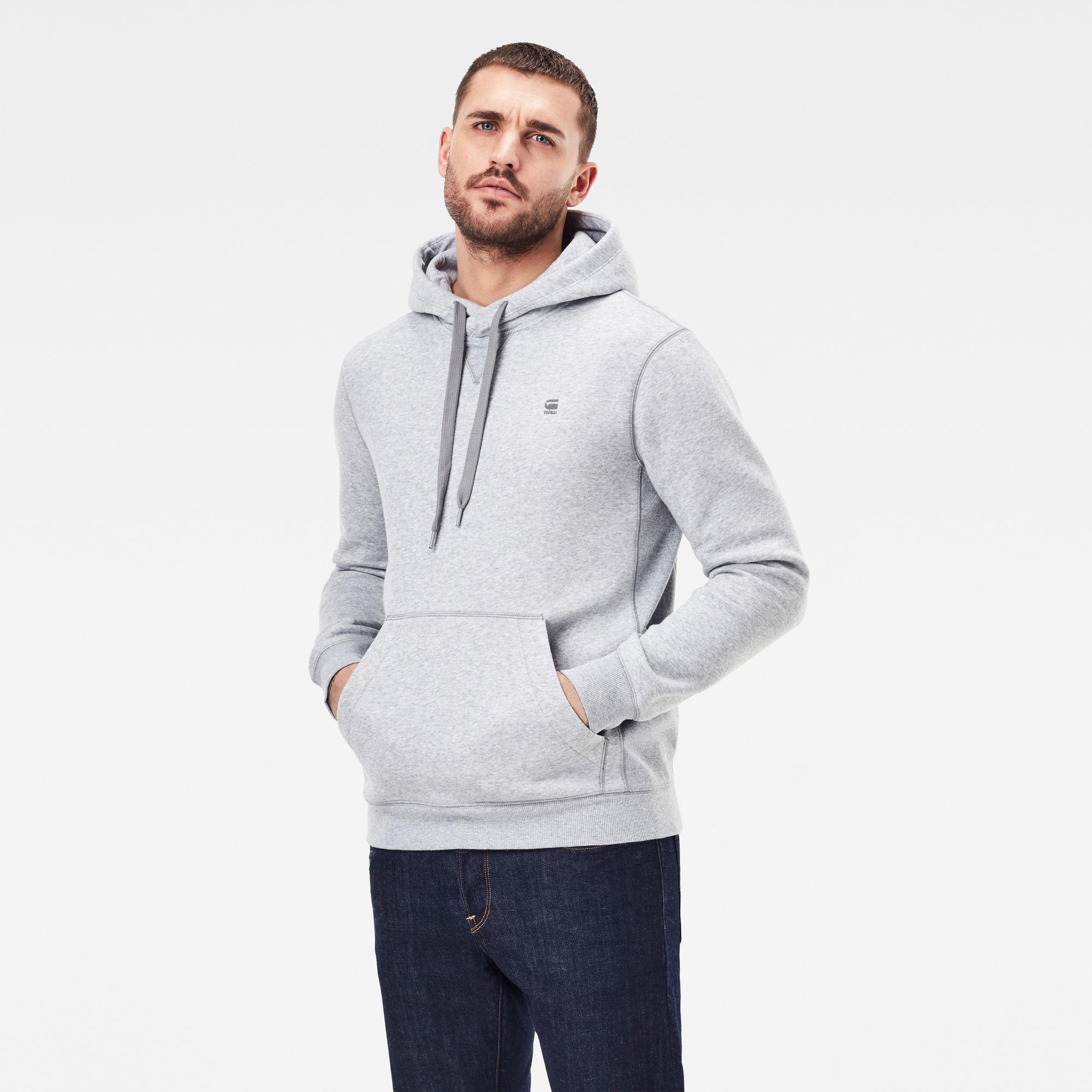 G-Star RAW Heren Premium Core Sweater Grijs