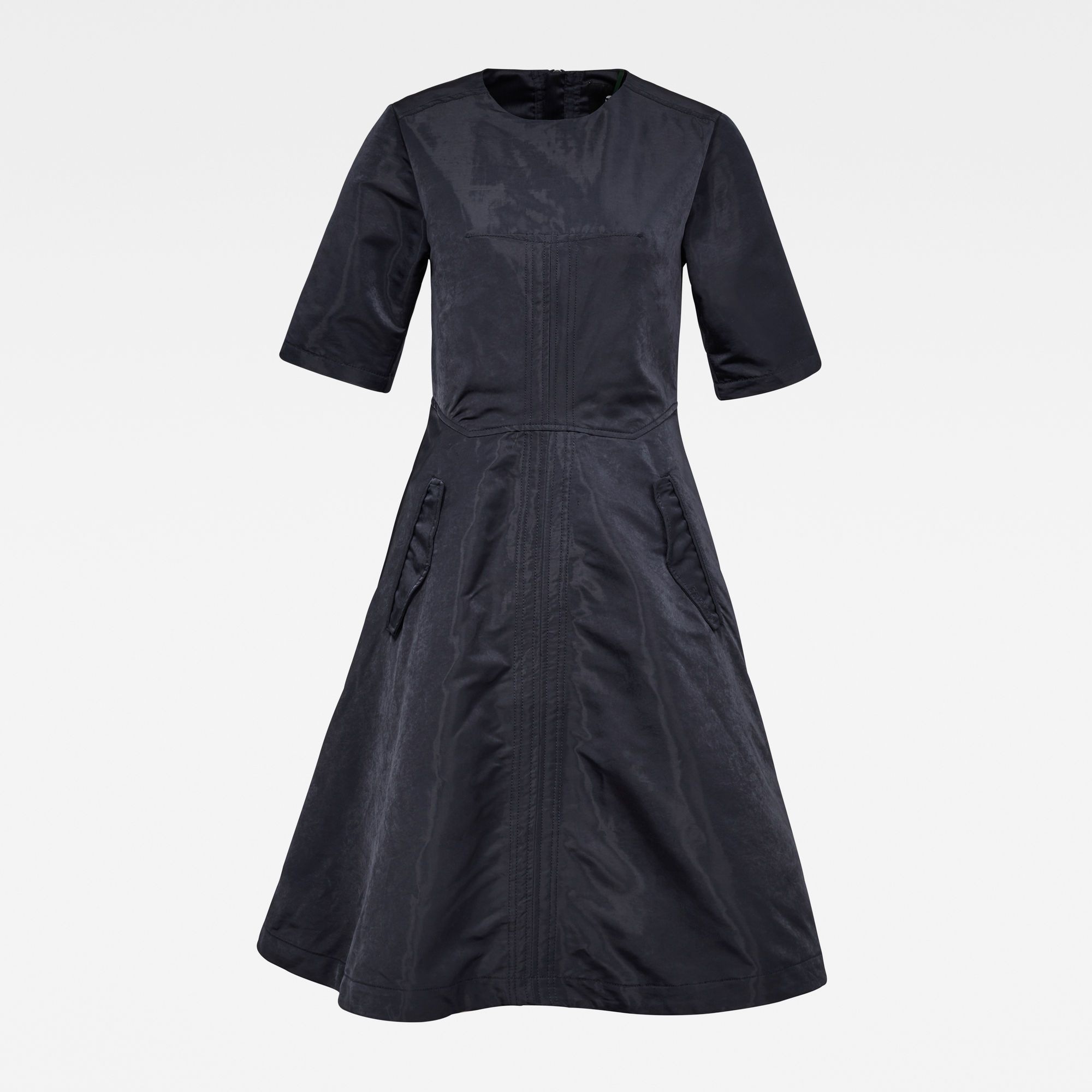 G-Star RAW Dames Fit and Flare Jurk Donkerblauw