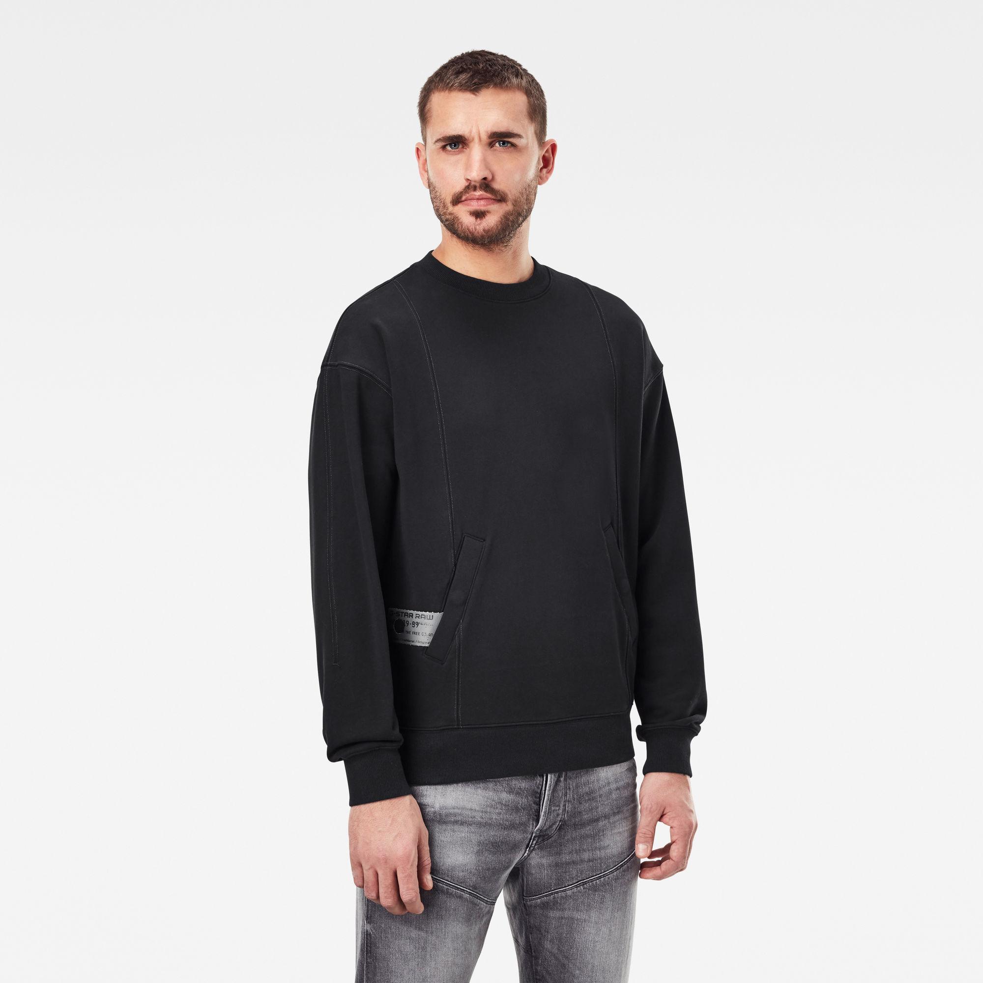 G-Star RAW Heren Stitch Sweater Zwart