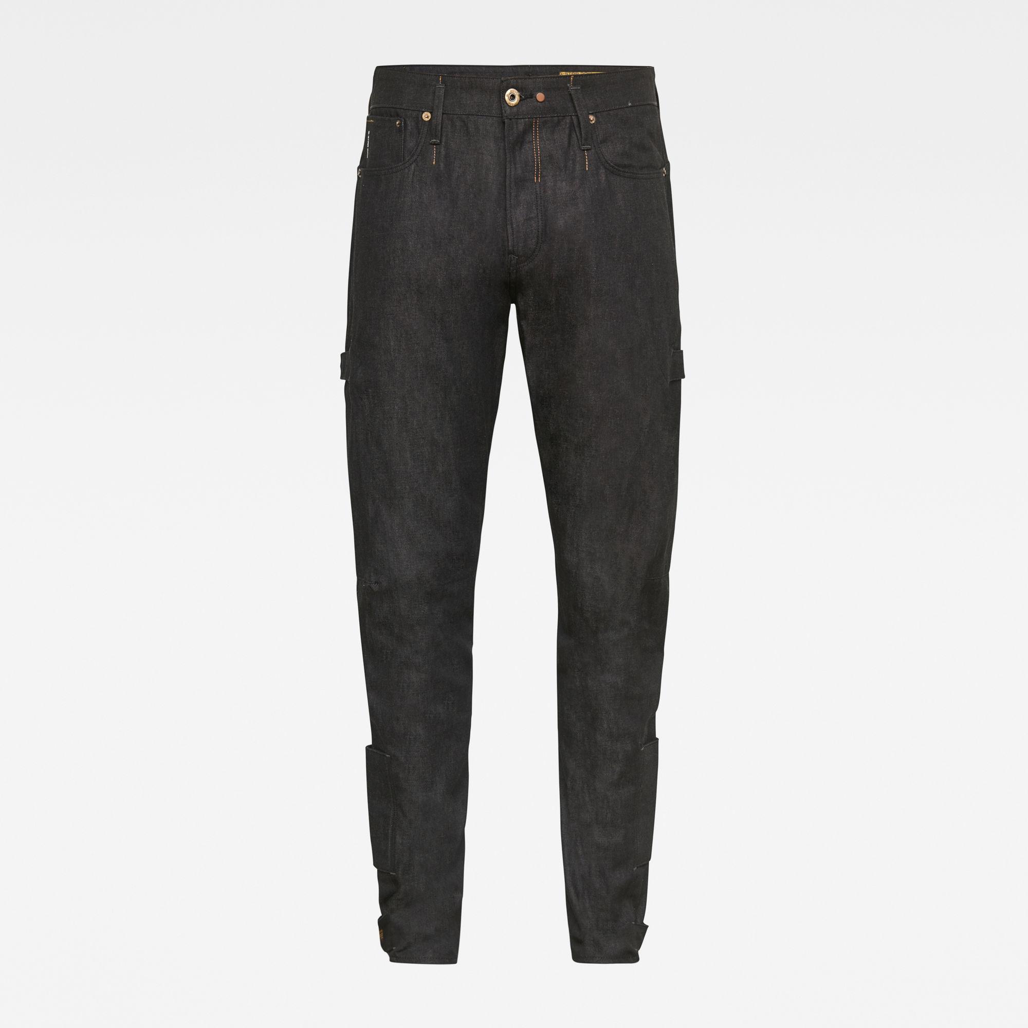 G-Star RAW Heren E Scutar 3D Slim Tapered Adjusters Jeans Zwart