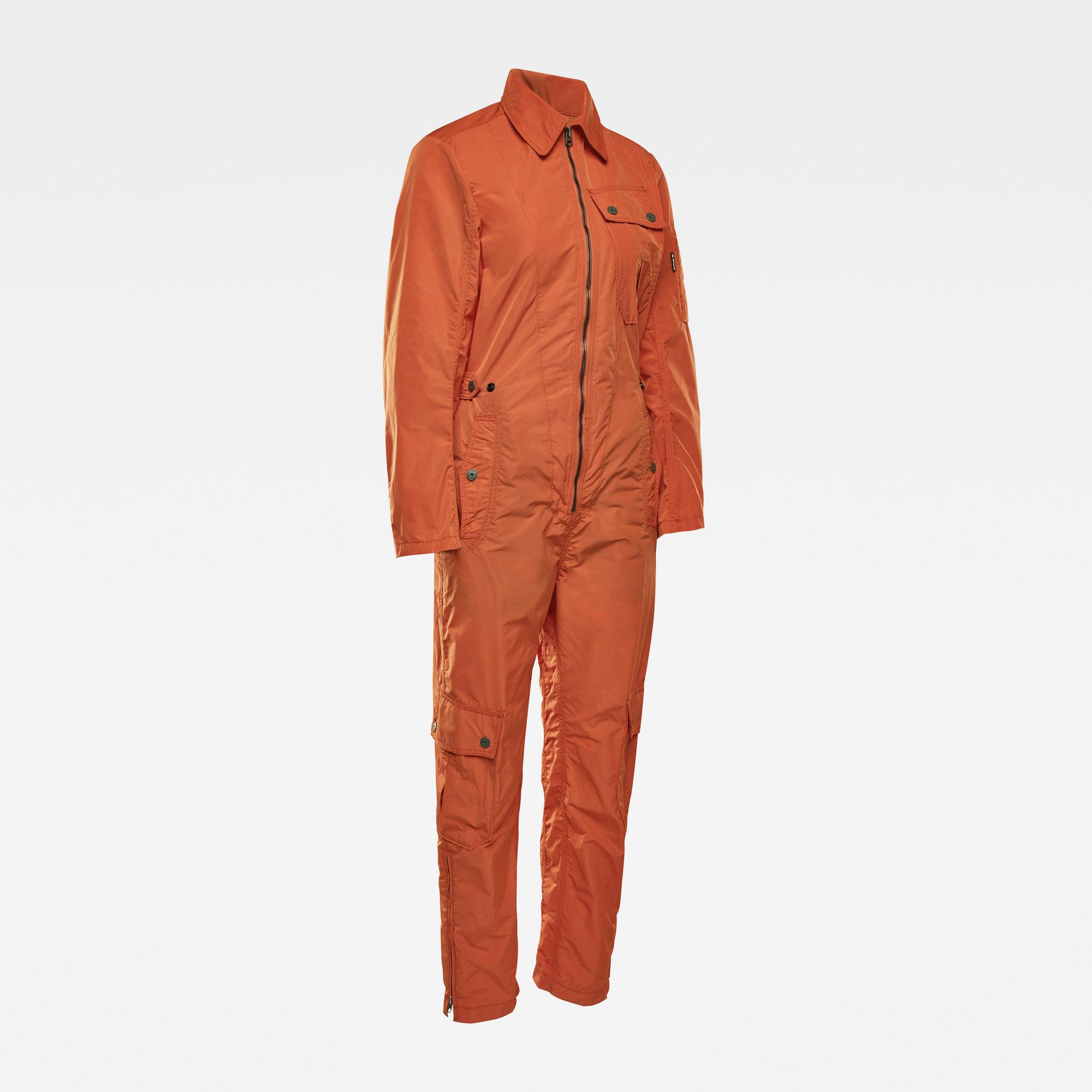 G-Star RAW Dames E Aero Straight Jumpsuit Oranje