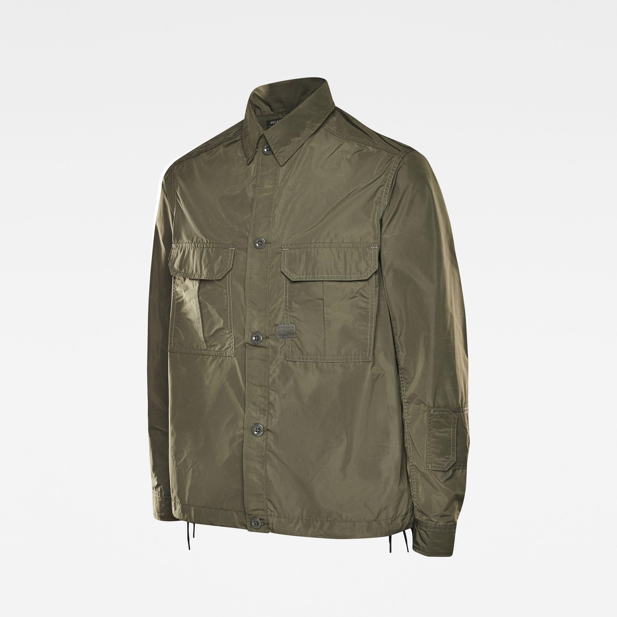 2 Flap Pocket Relaxed Overshirt Groen