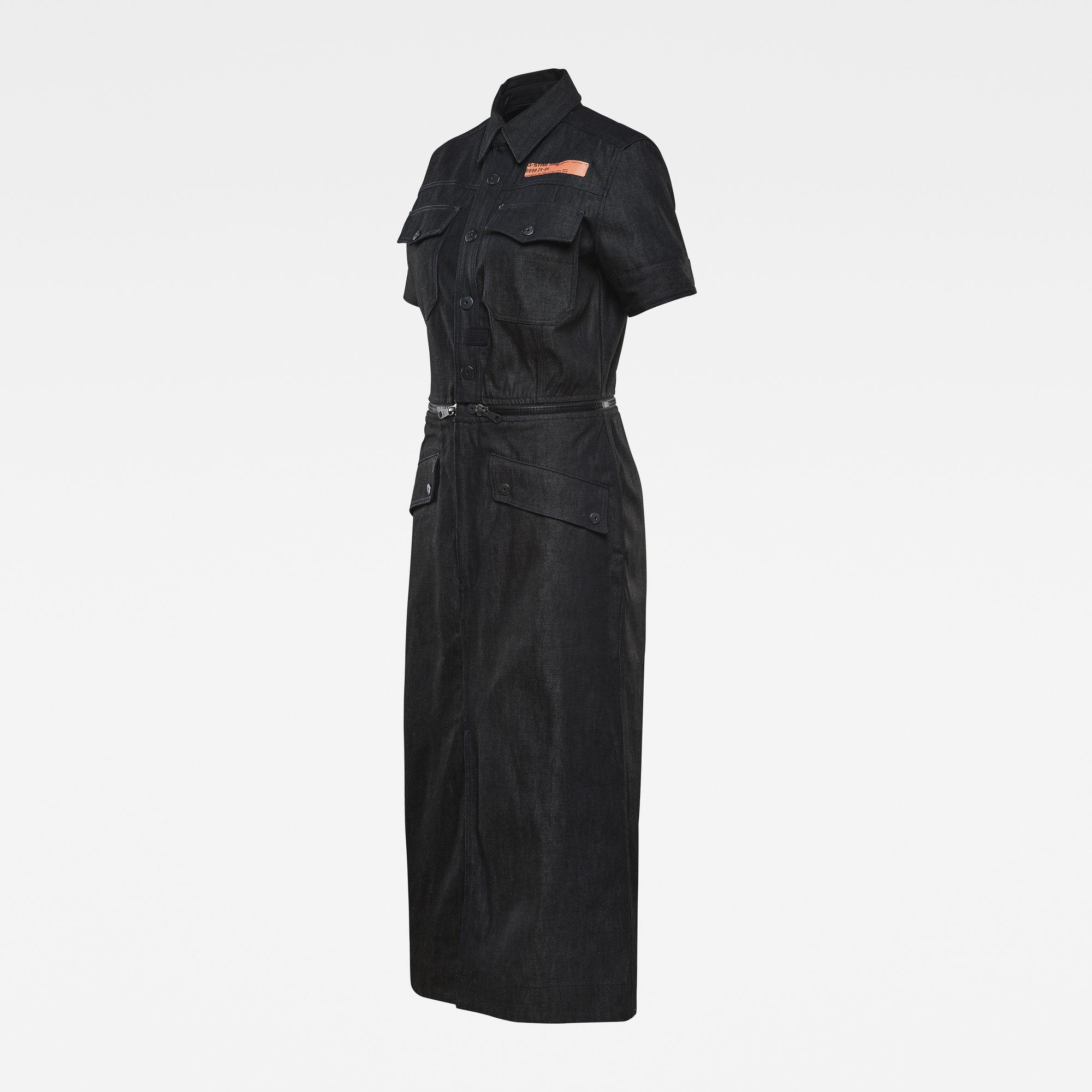 G-Star RAW Dames E Moto Uniform Jurk Zwart