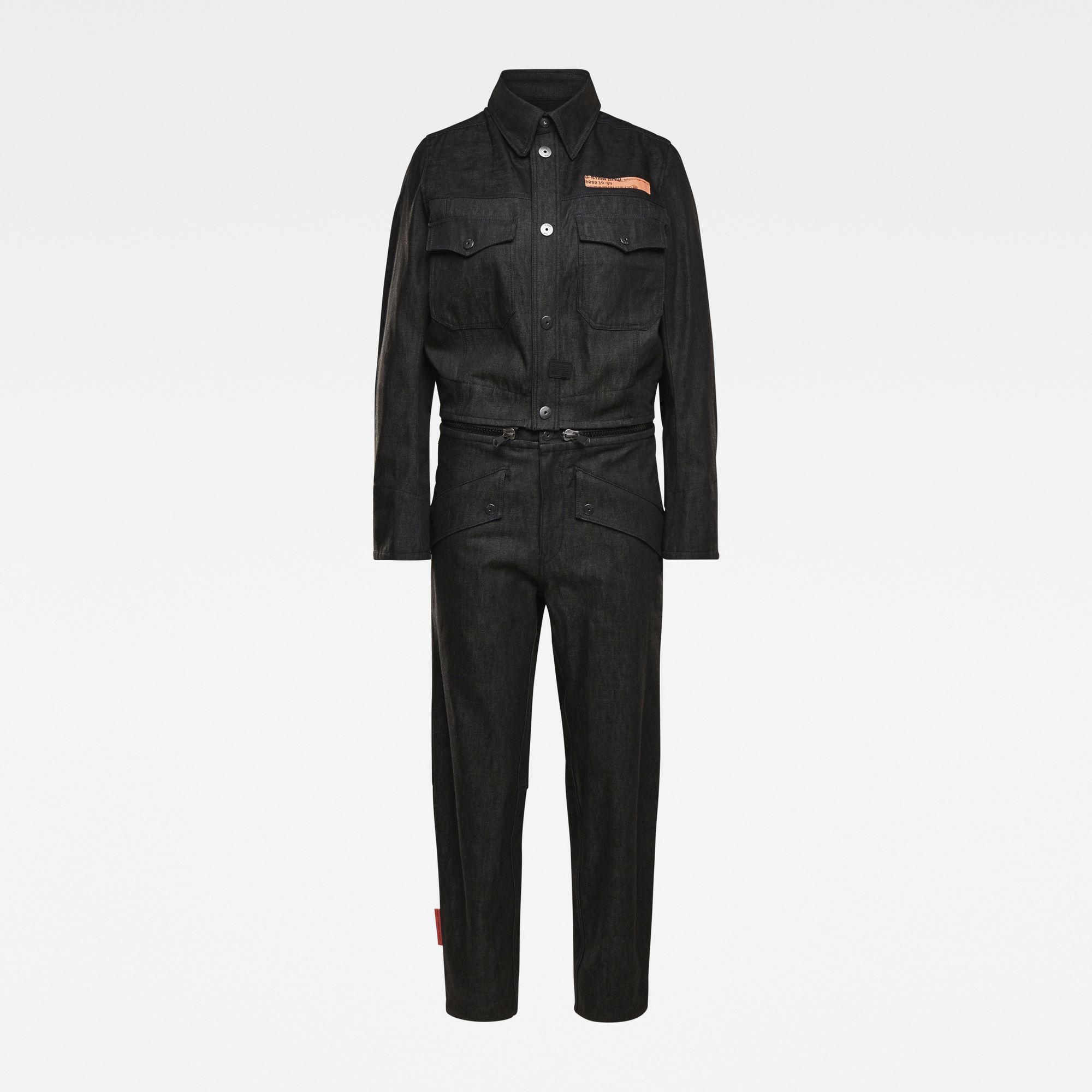 G-Star RAW Dames E Moto Uniform Jumpsuit Zwart