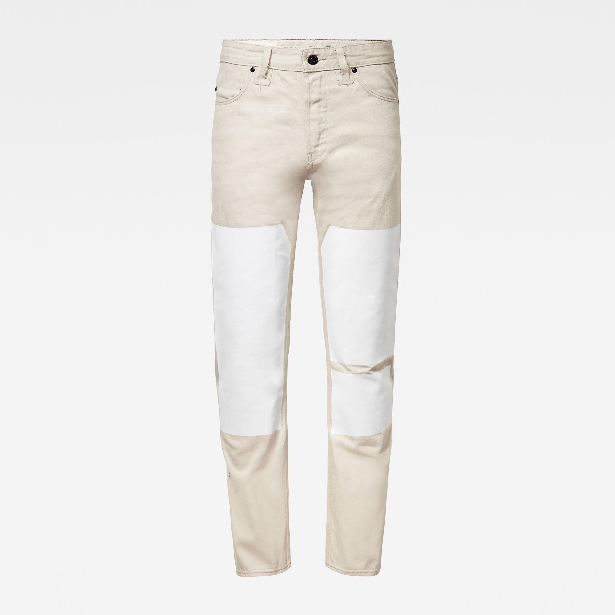 G-Star RAW Heren GSRR Triple A Regular Straight Selvedge Jeans Grijs