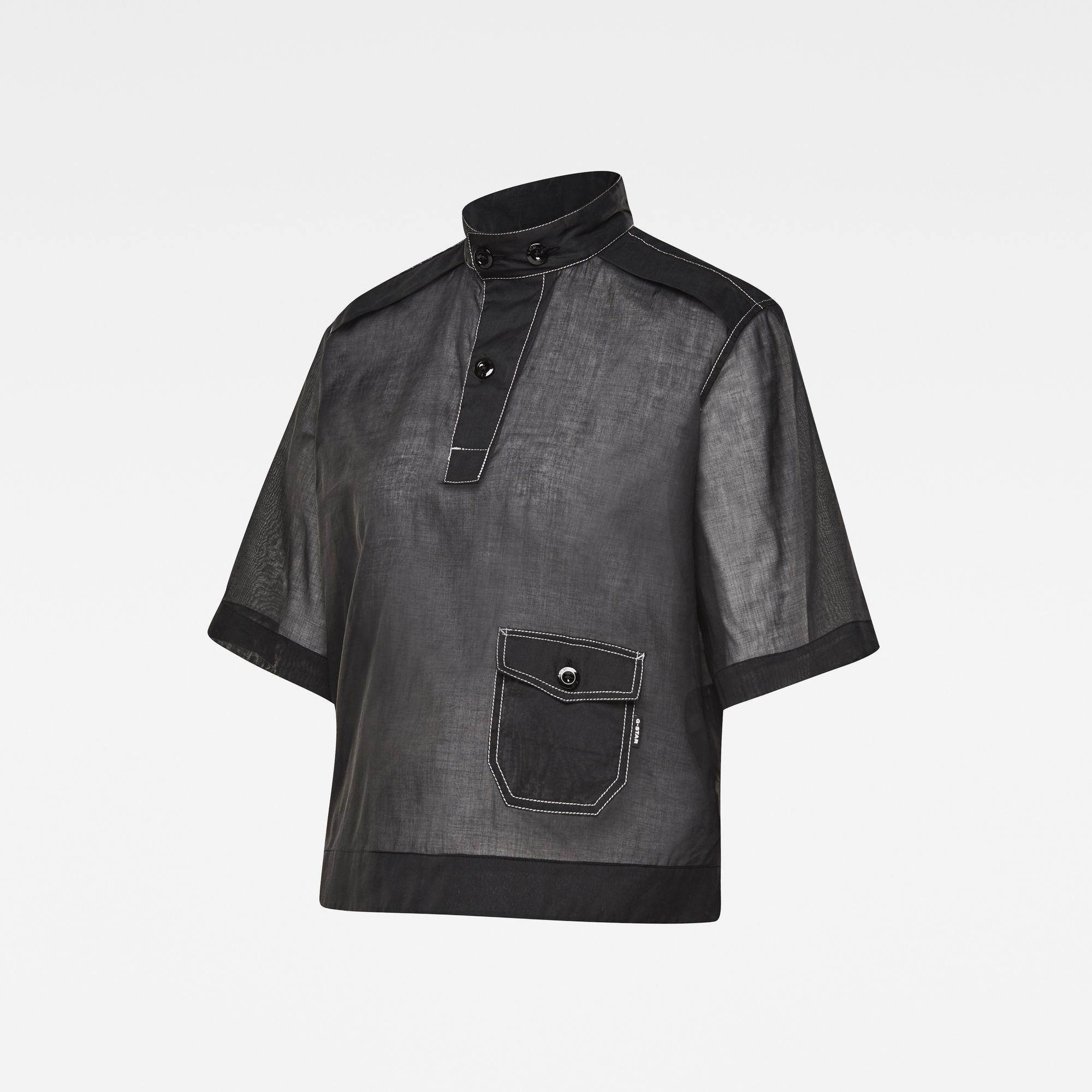G-Star RAW Dames E Swedish Collar Shirt Zwart
