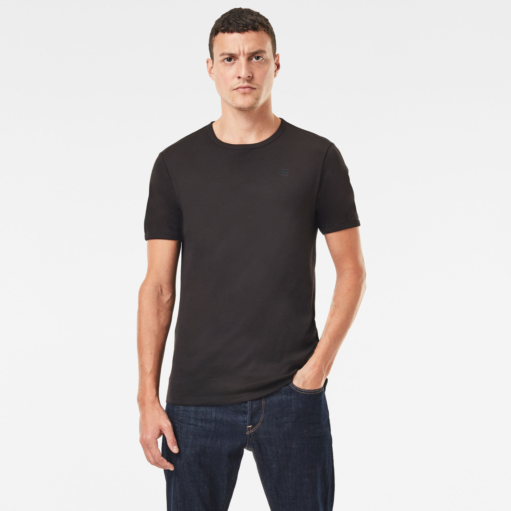 G-Star RAW Heren Basic T-Shirt 2-Pack Zwart
