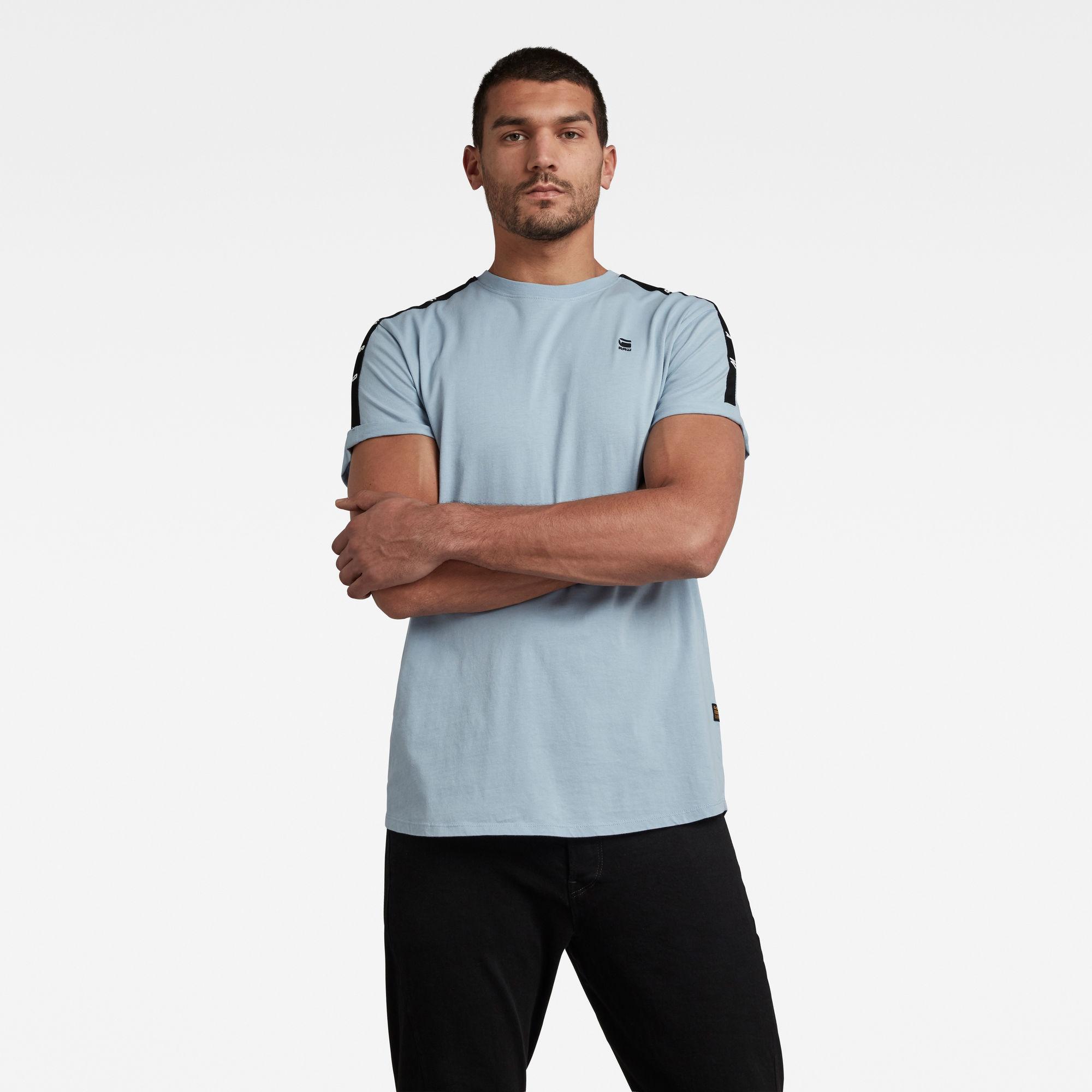 G-Star RAW Heren Lash Tape T-Shirt Blauw