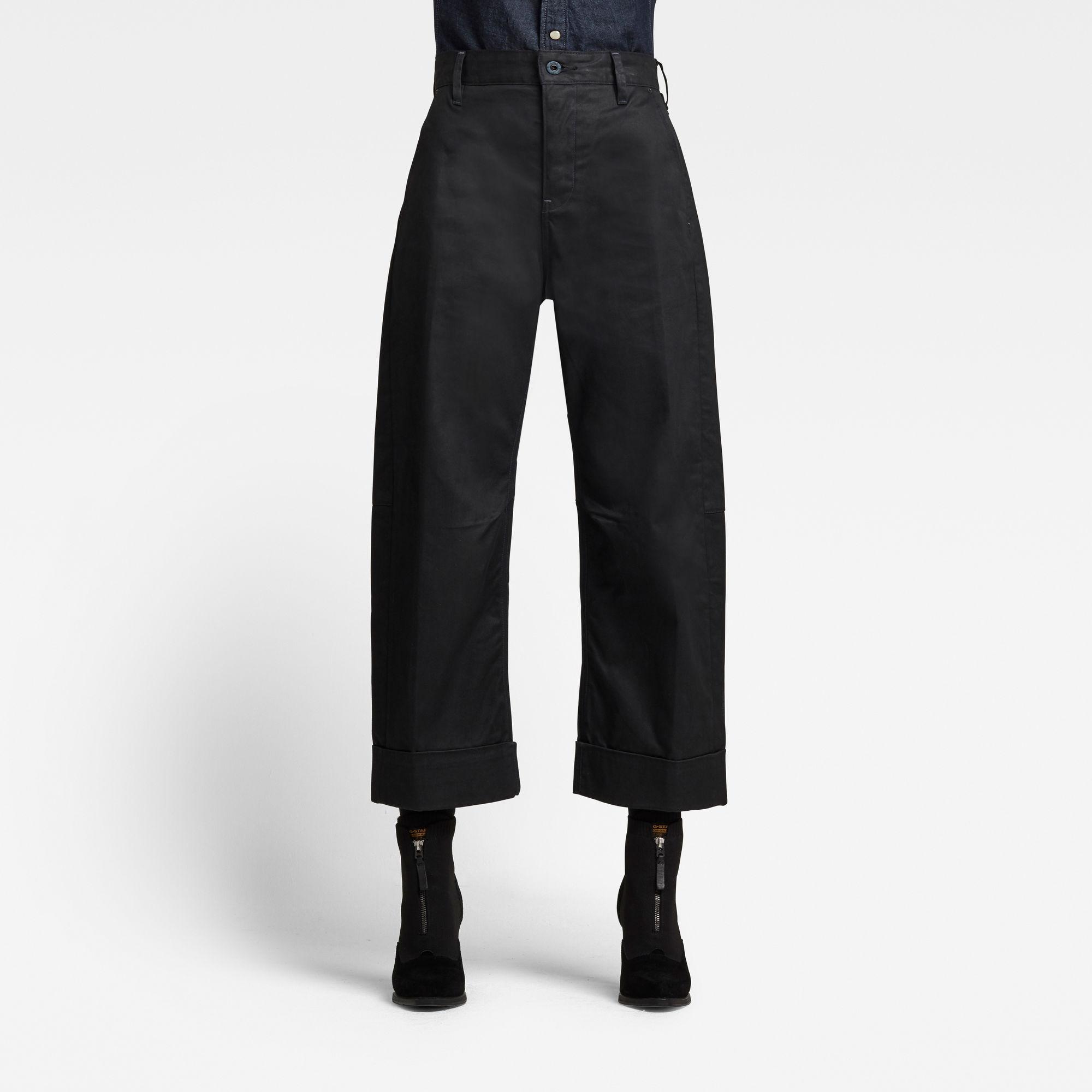G-Star RAW Dames GSRR Eve 3D Mid Wide leg Jeans Zwart