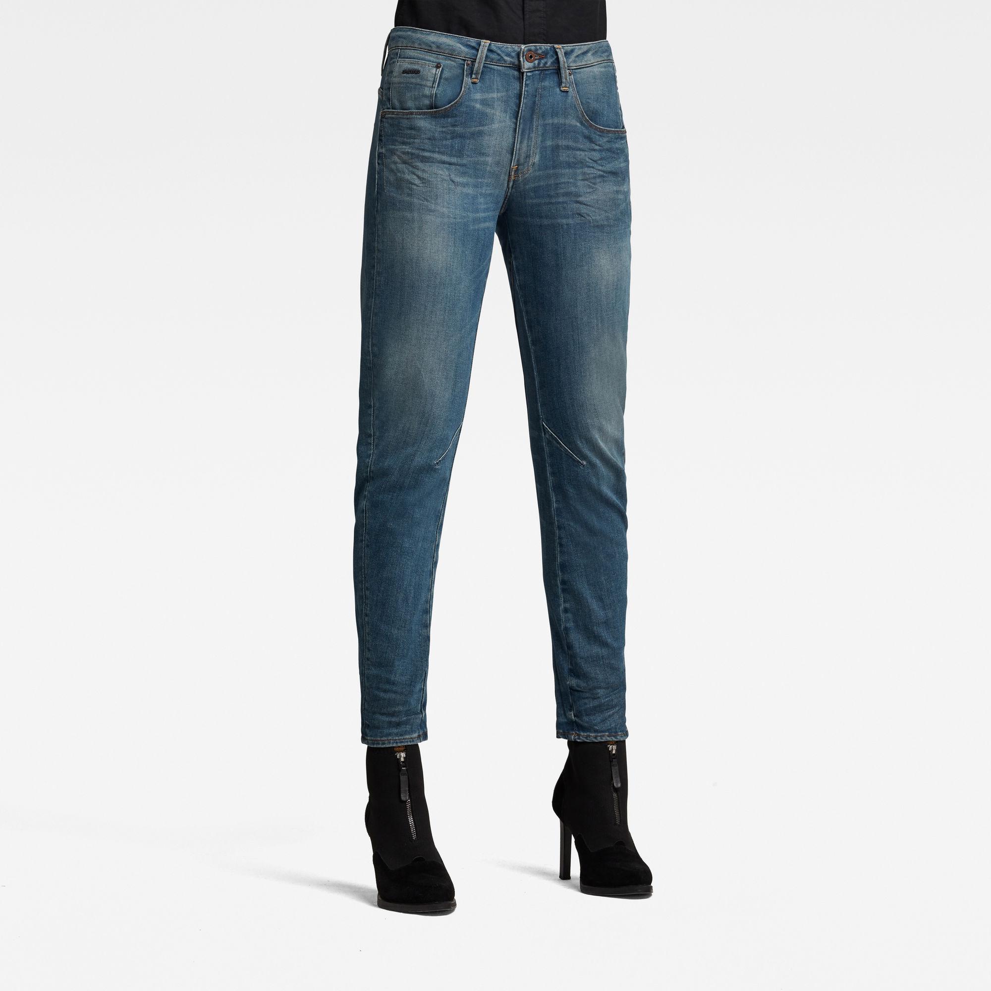 G-Star RAW Dames Arc 3D Low Boyfriend Jeans Blauw