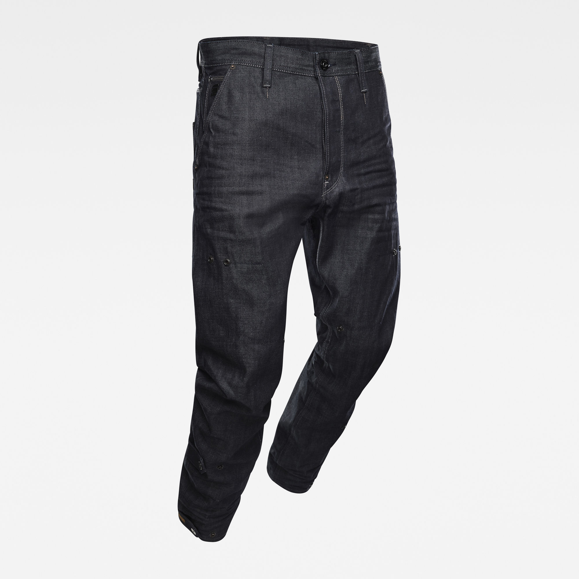 G-Star RAW Heren E Grip 3D Relaxed Tapered Adjusters Jeans Donkerblauw
