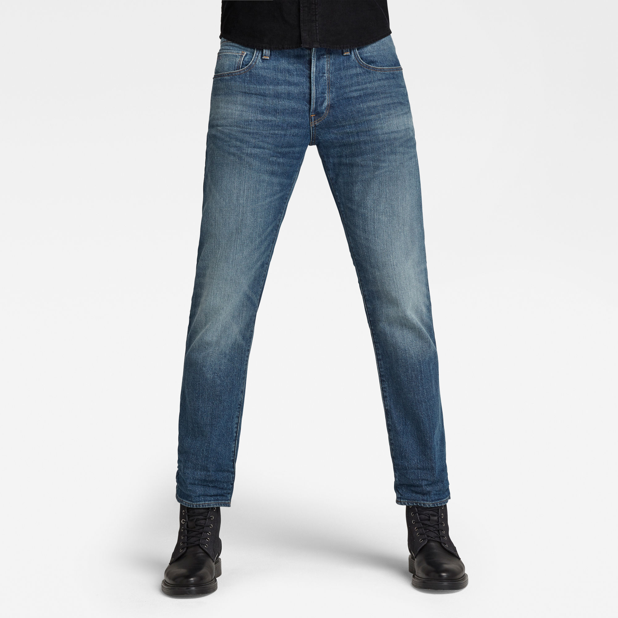 G-Star RAW Heren 3301 Straight Jeans Blauw