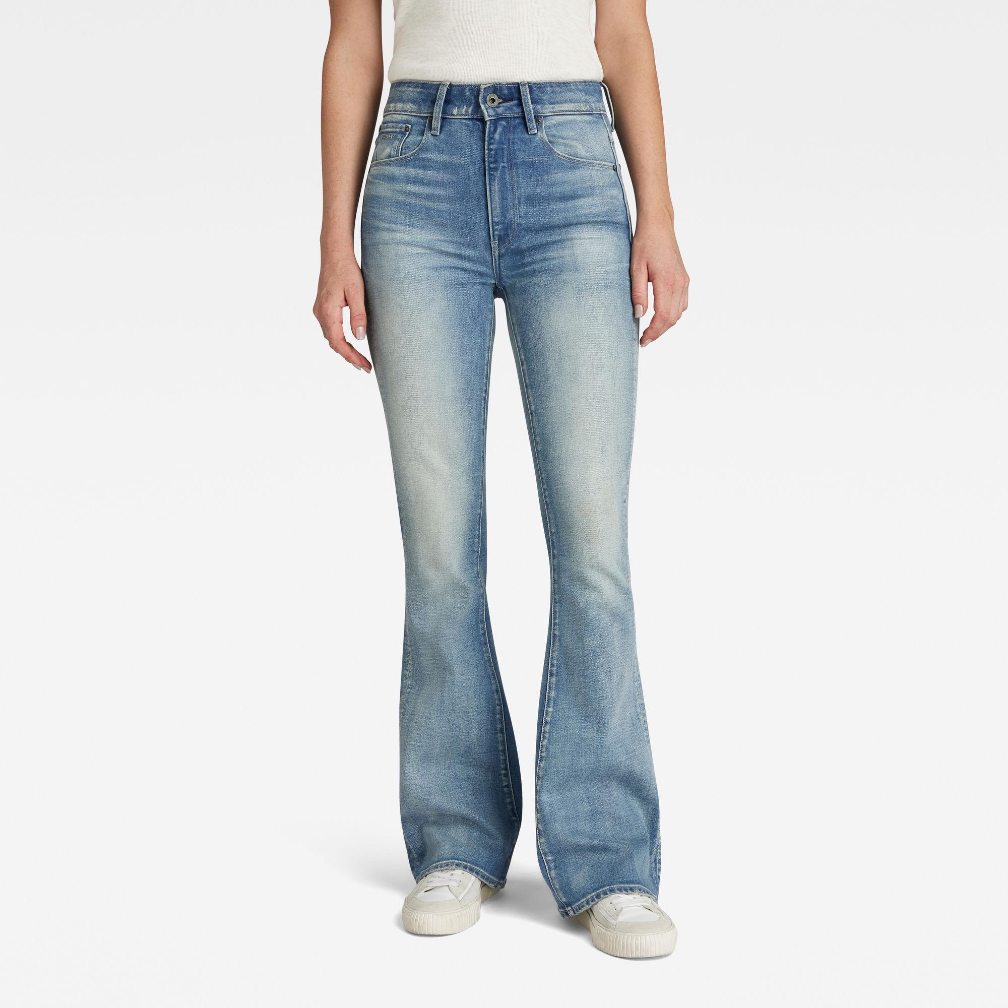 3301 High Flare Jeans Lichtblauw