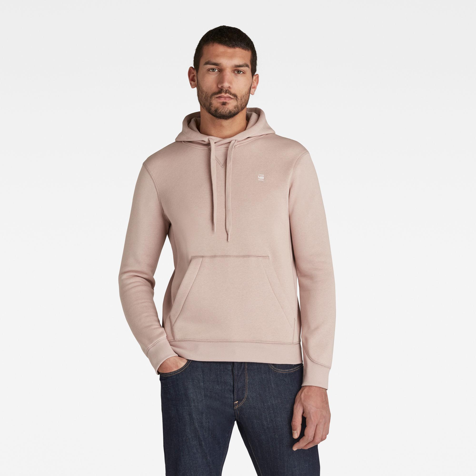 G-Star RAW Heren Premium Core Hooded Sweater Roze