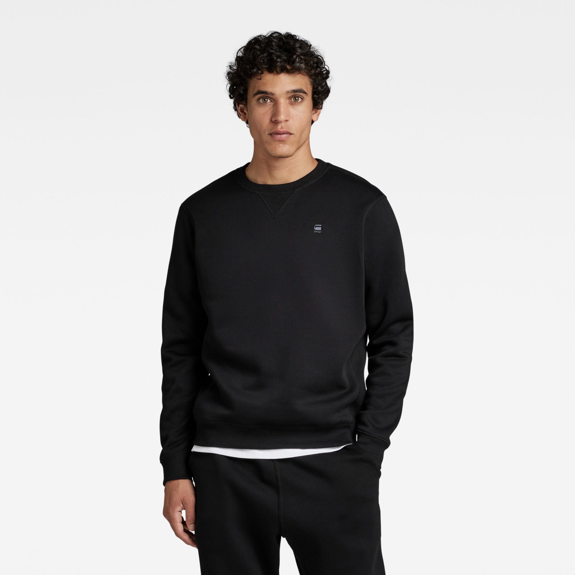 G-Star RAW Heren Premium Core Sweater Zwart