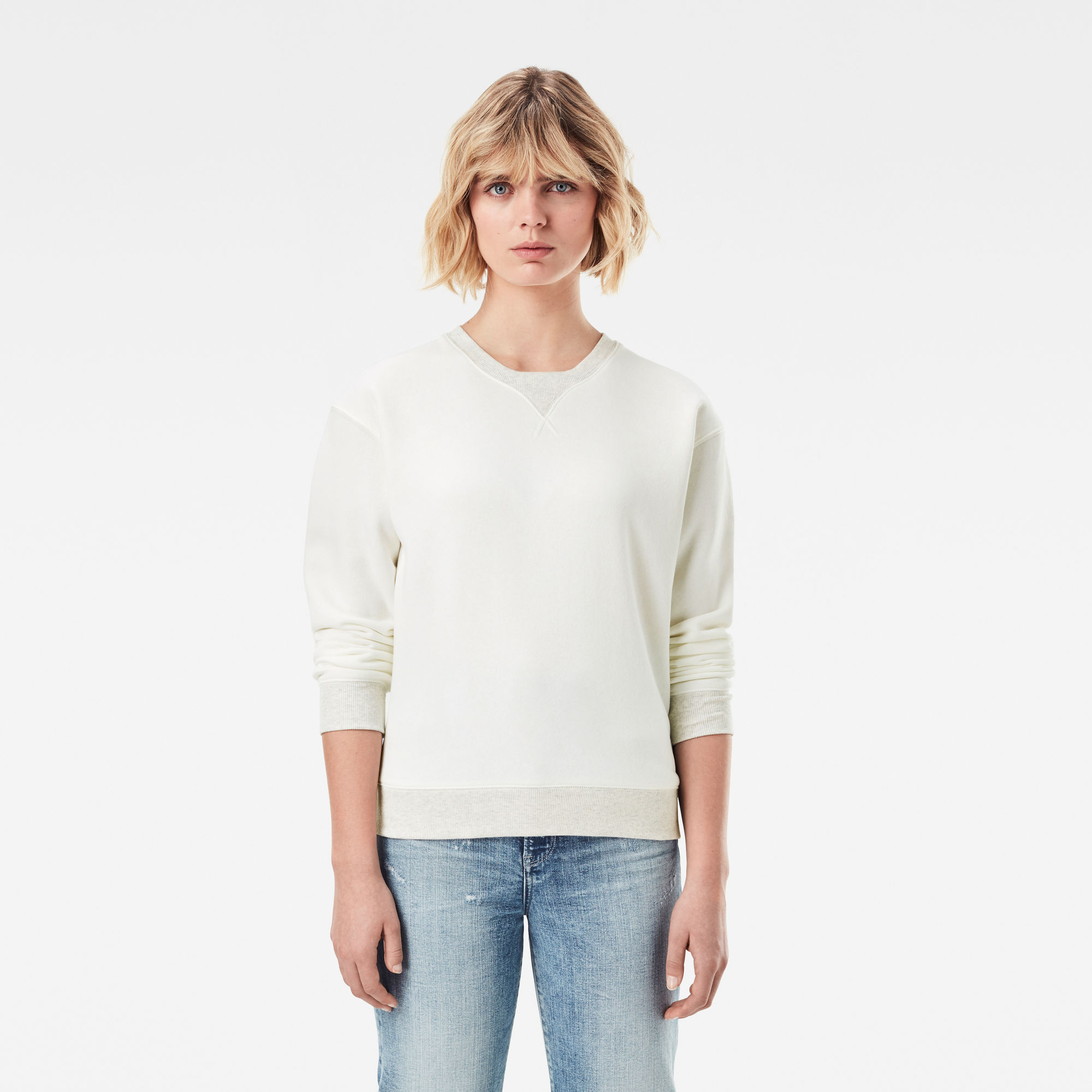 G-Star RAW Dames Premium Core Sweater Wit