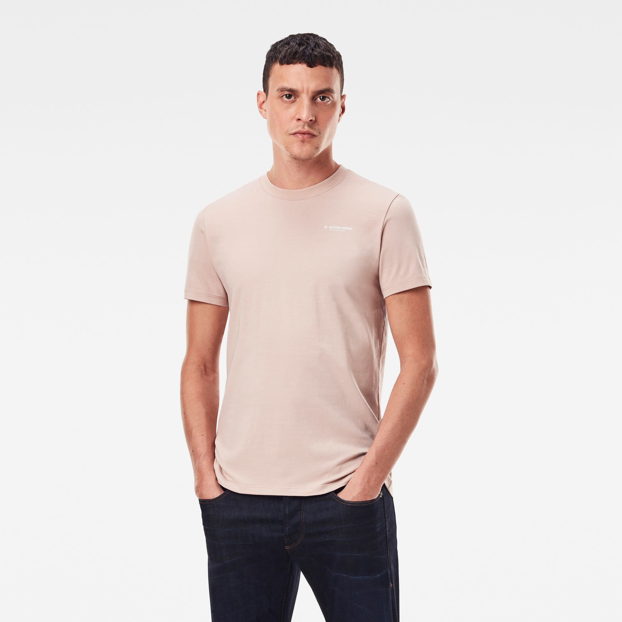 G-Star RAW Heren Slim Base T-Shirt Roze