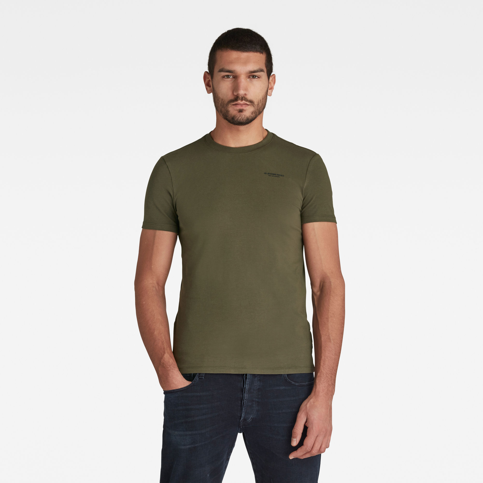 G-Star RAW Heren Slim Base T-Shirt Groen