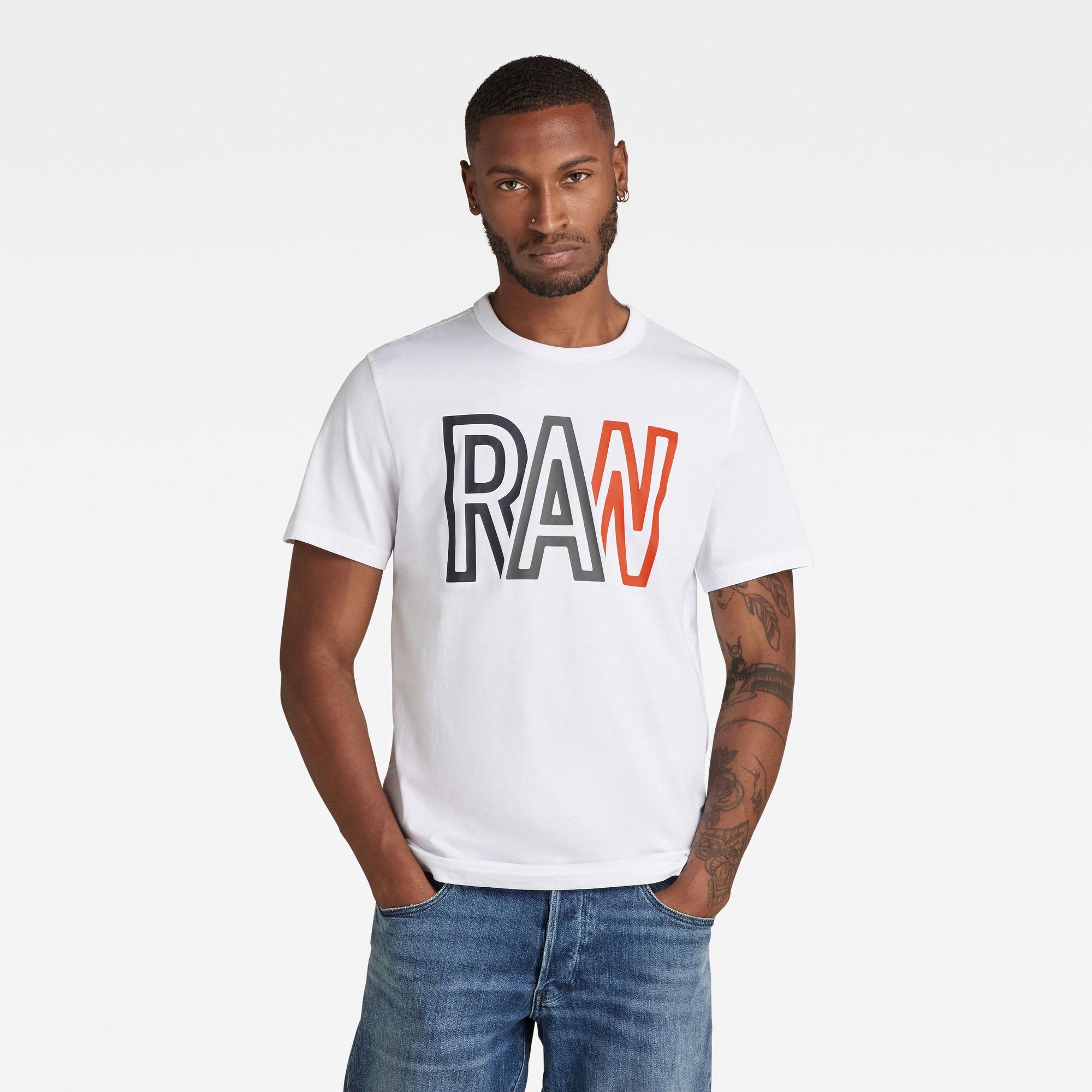 G-Star RAW Heren Raw T-Shirt Wit