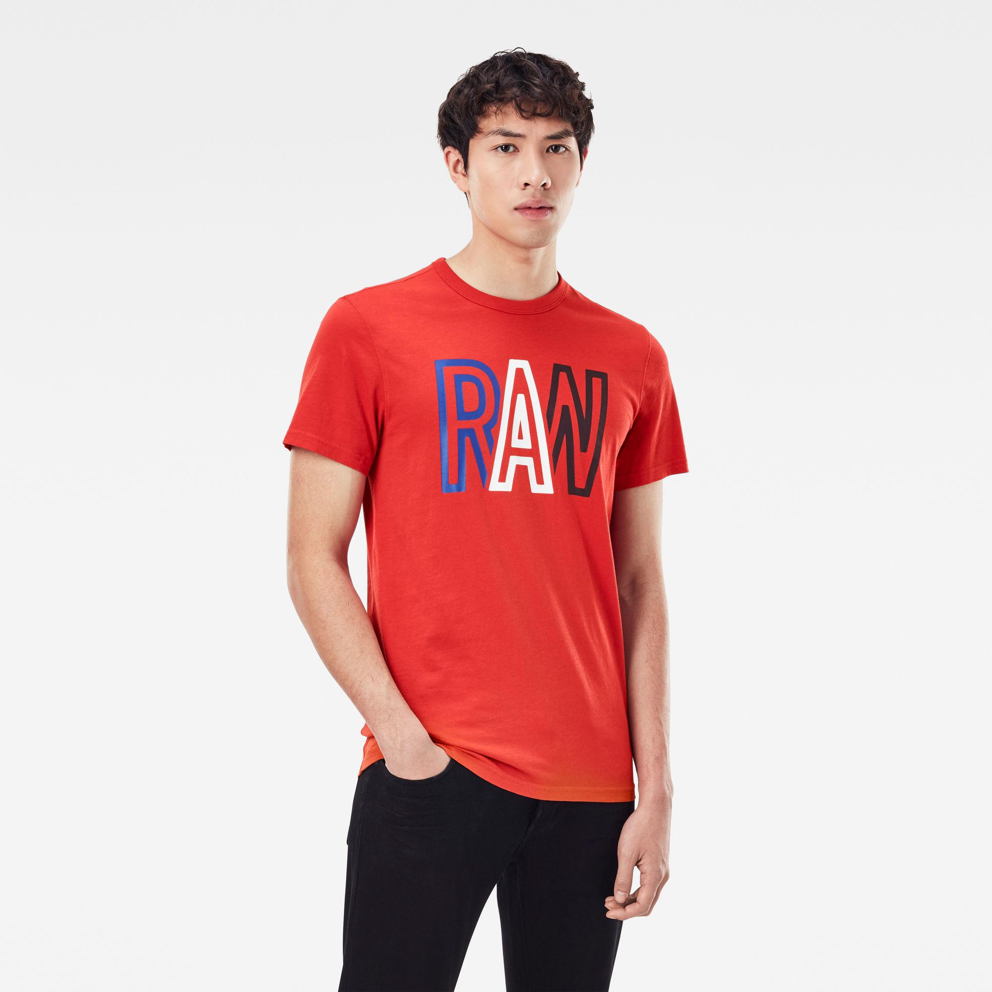G-Star RAW Heren Raw T-Shirt Rood
