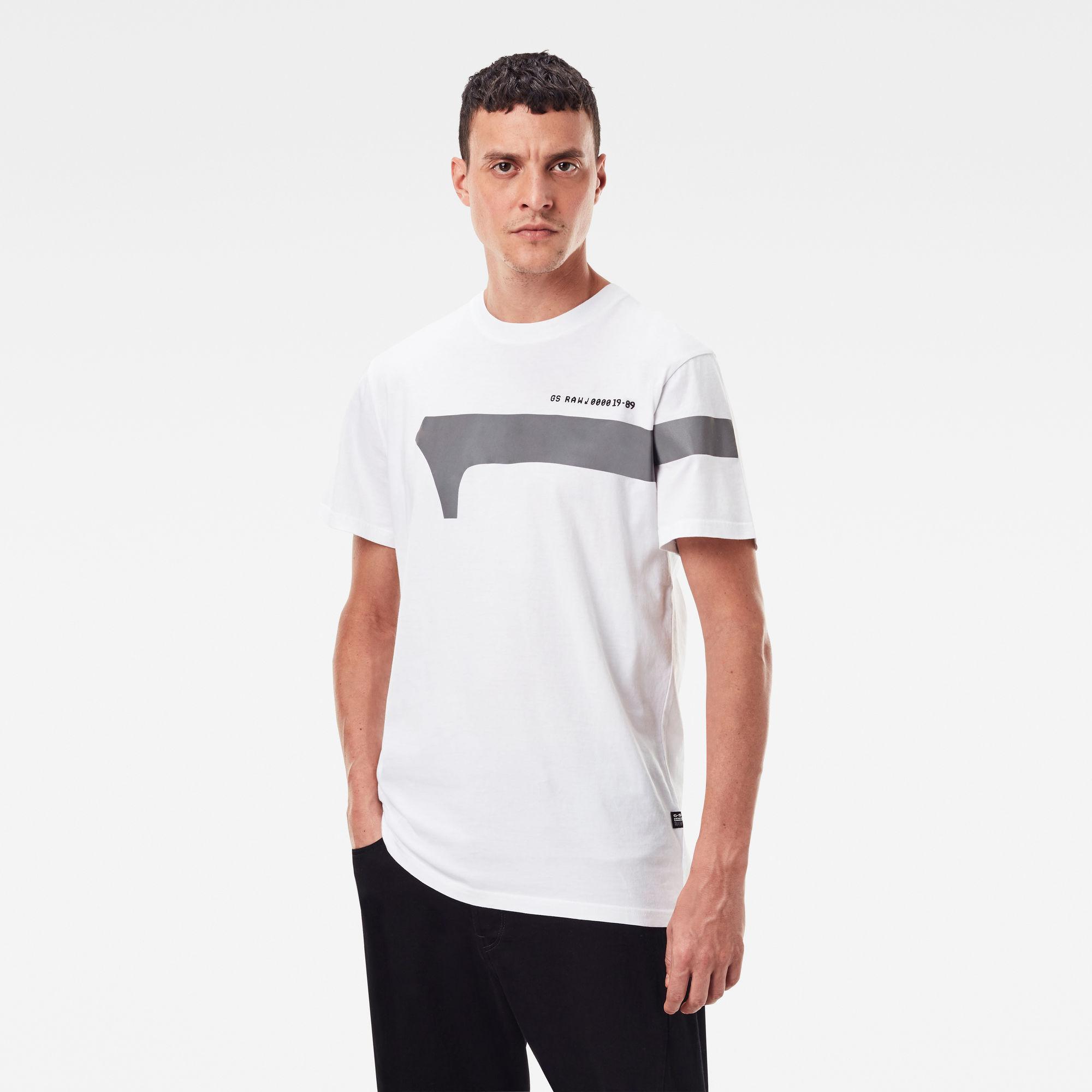 G-Star RAW Heren 1 Reflective Graphic T-Shirt Wit