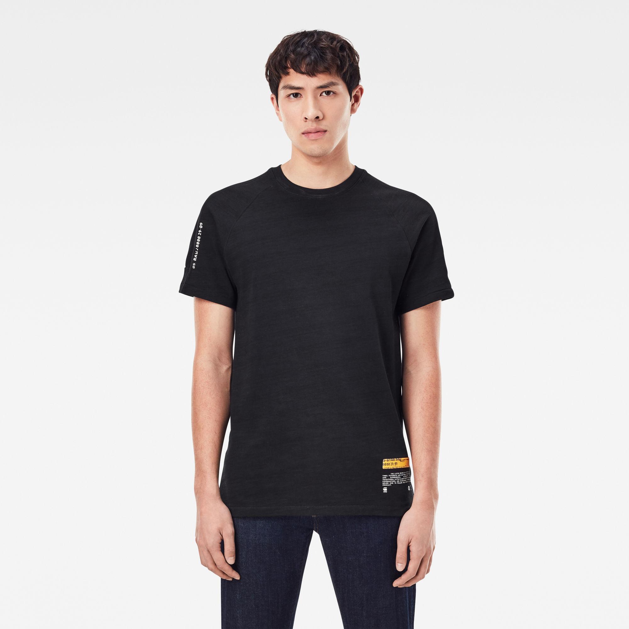G-Star RAW Heren Pazkor Multi Graphic T-Shirt Blue