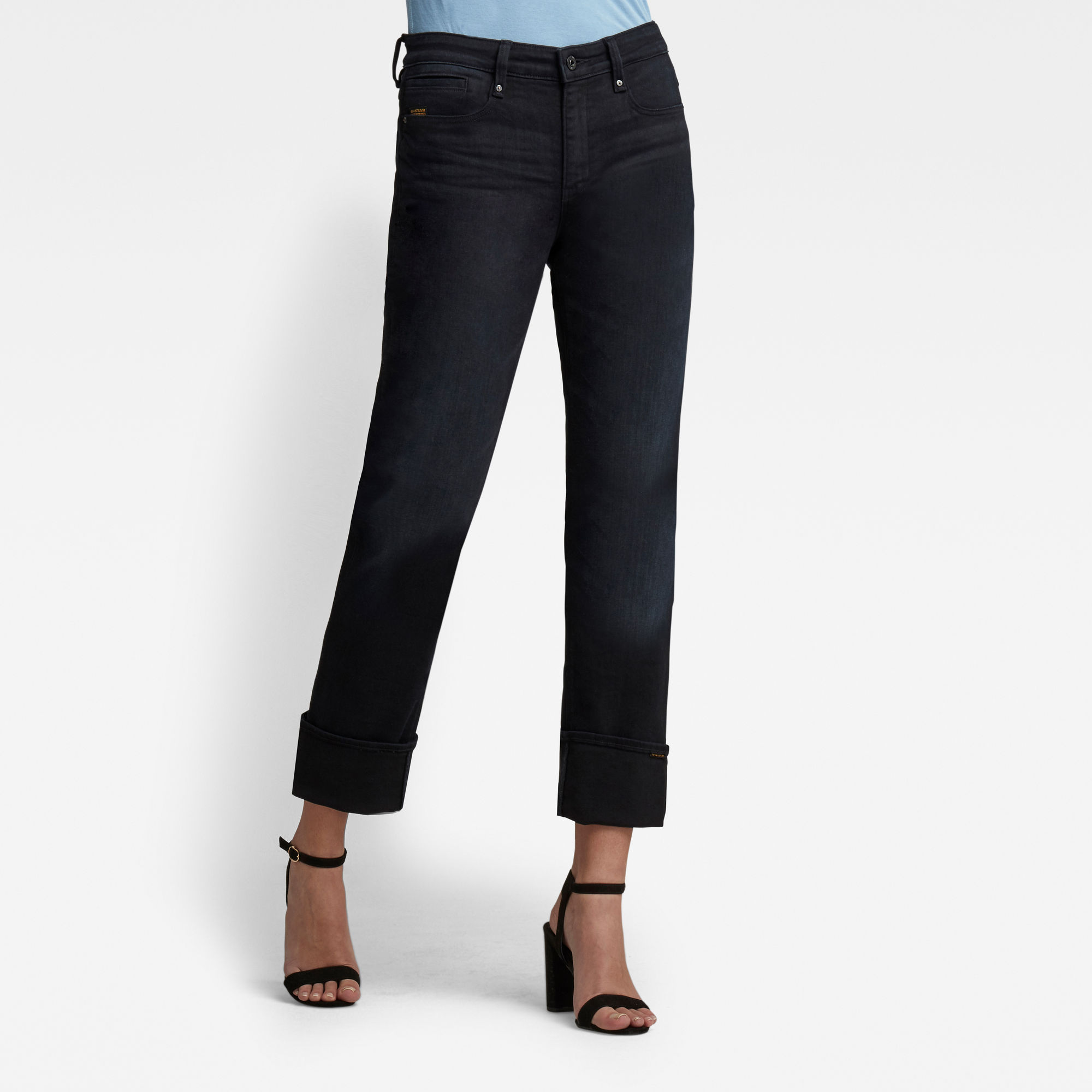 G-Star RAW Dames Noxer Straight Jeans Donkerblauw