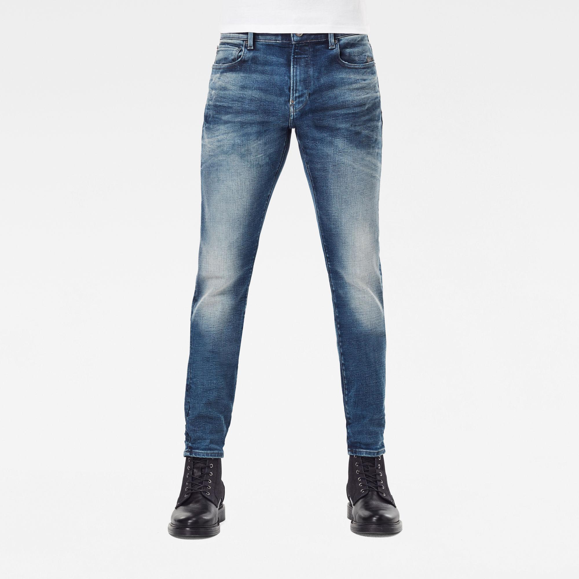 G-Star RAW Heren Revend Skinny Jeans Blauw