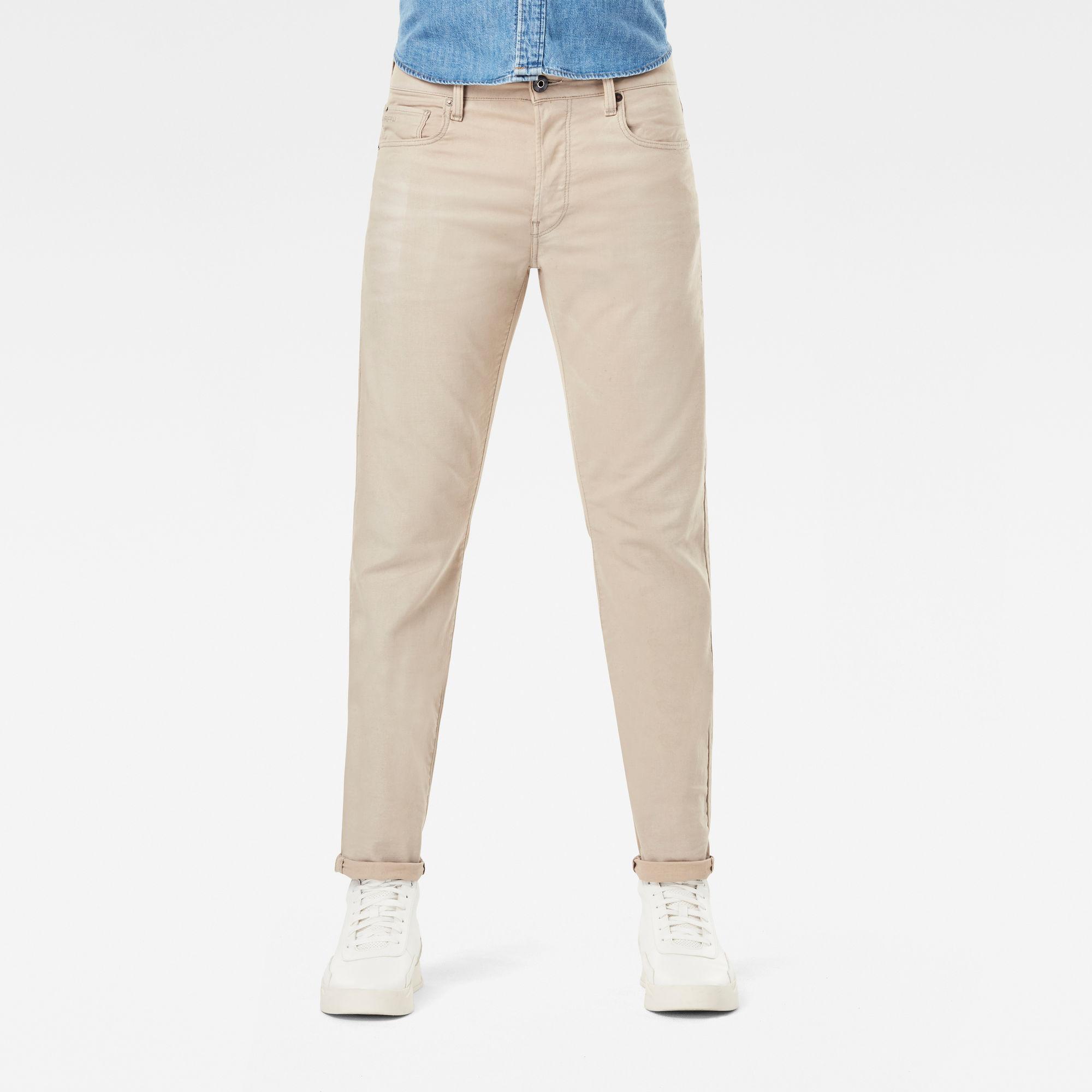 G-Star RAW Heren 3301 Slim Gekleurde Jeans Beige