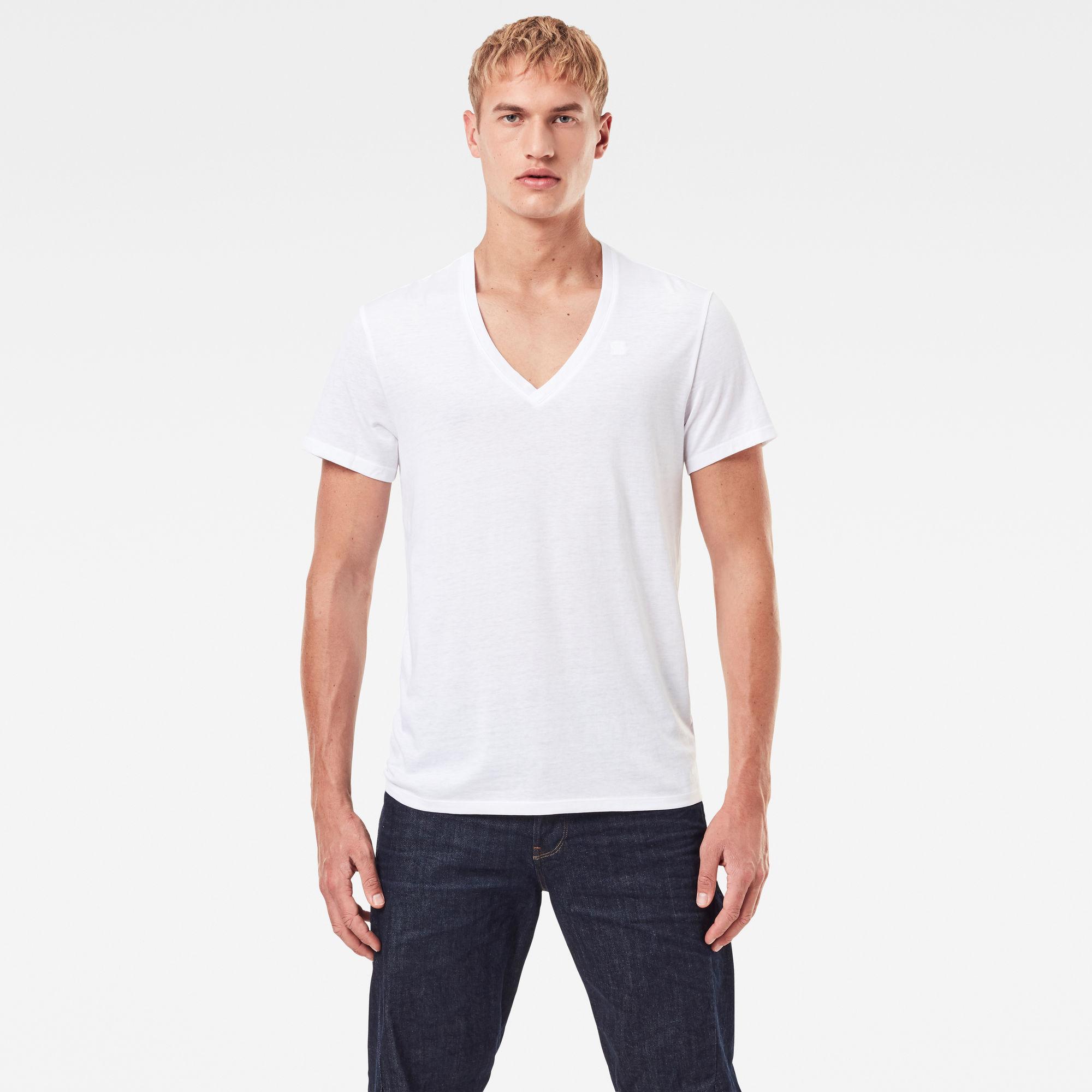 G-Star RAW Heren Basic Heather T-Shirt 2-Pack Wit