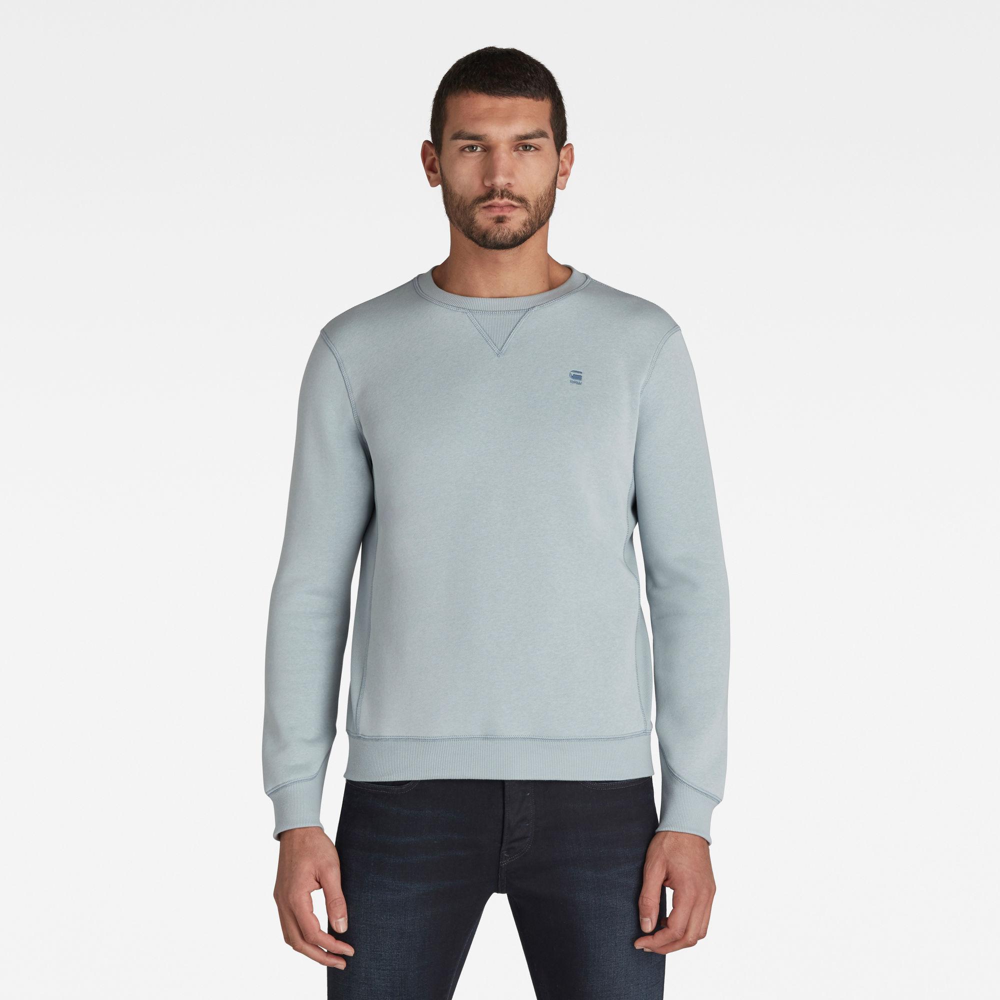G-Star RAW Heren Premium Core Sweater Blauw
