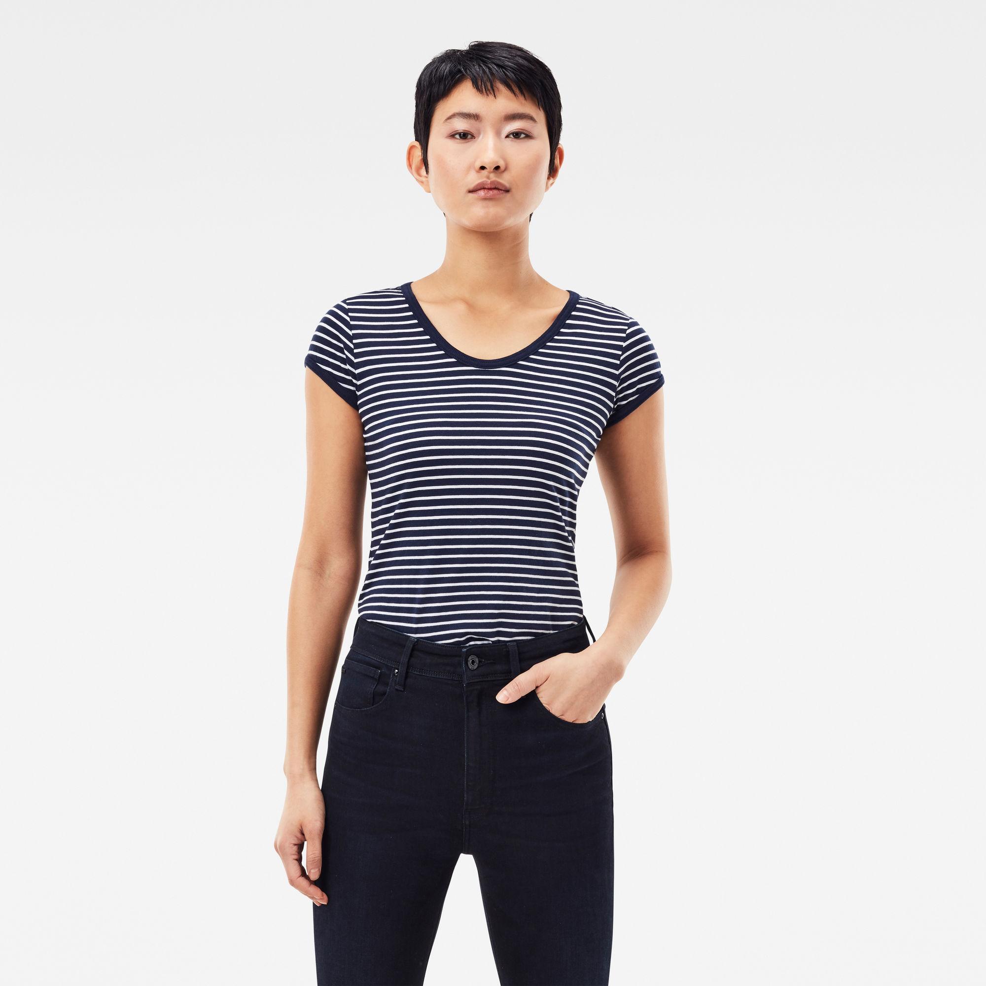 G-Star RAW Dames Core Eyben Slim T-Shirt Blauw