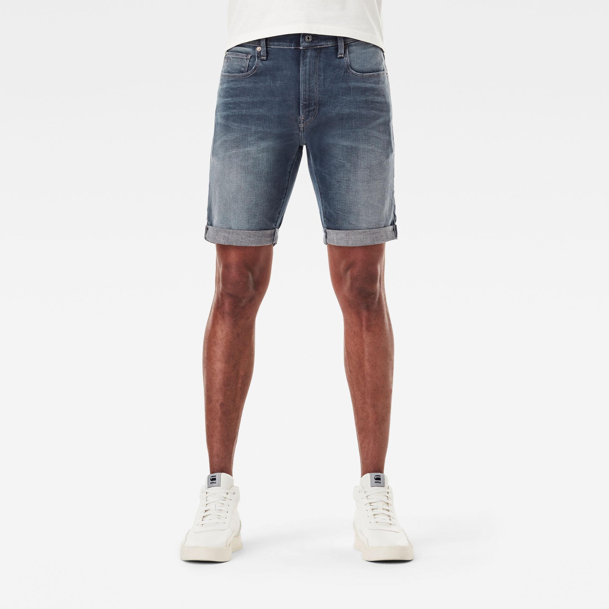 G-Star RAW Heren 3301 Slim Short Donkerblauw
