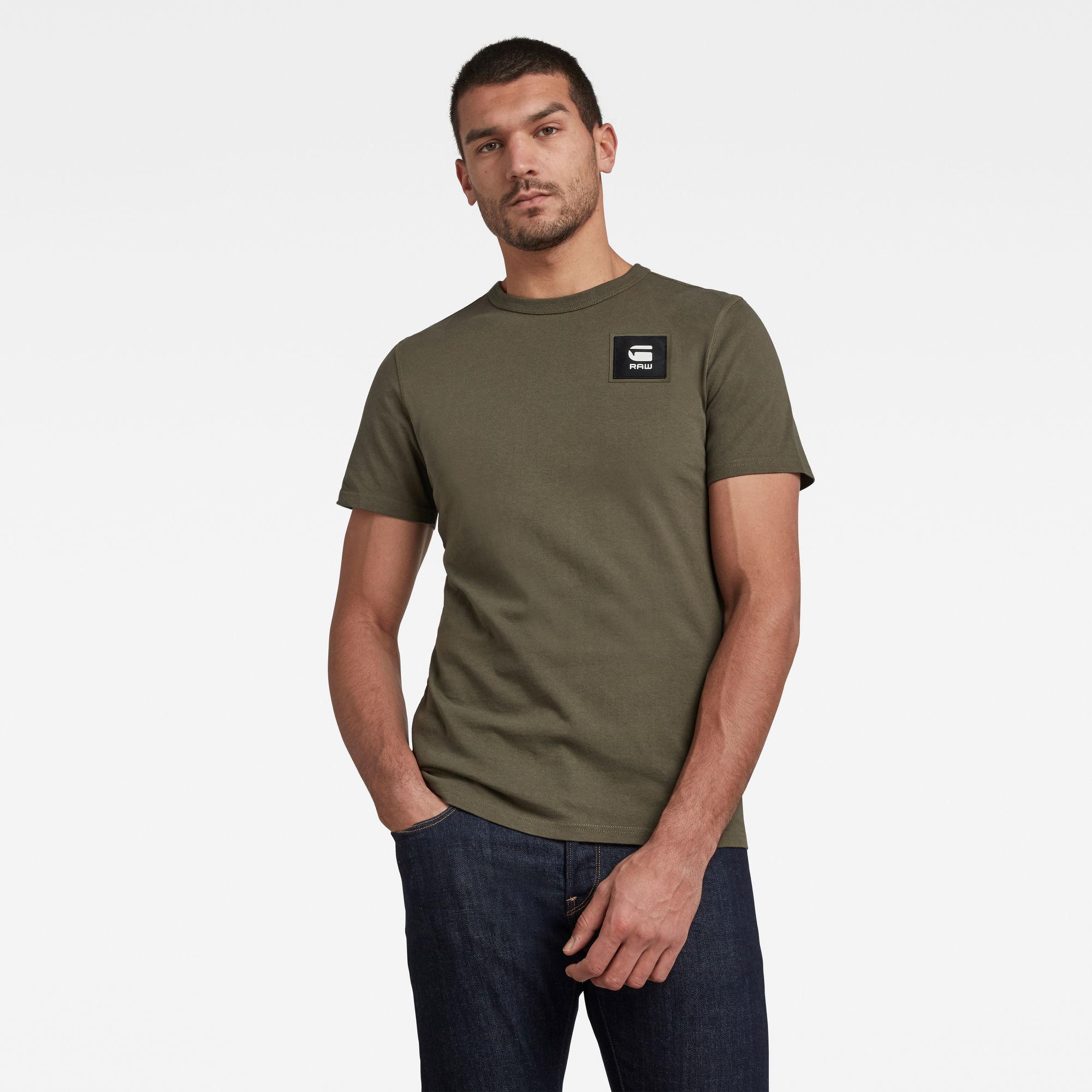 G-Star RAW Heren Badge Logo T-Shirt Groen