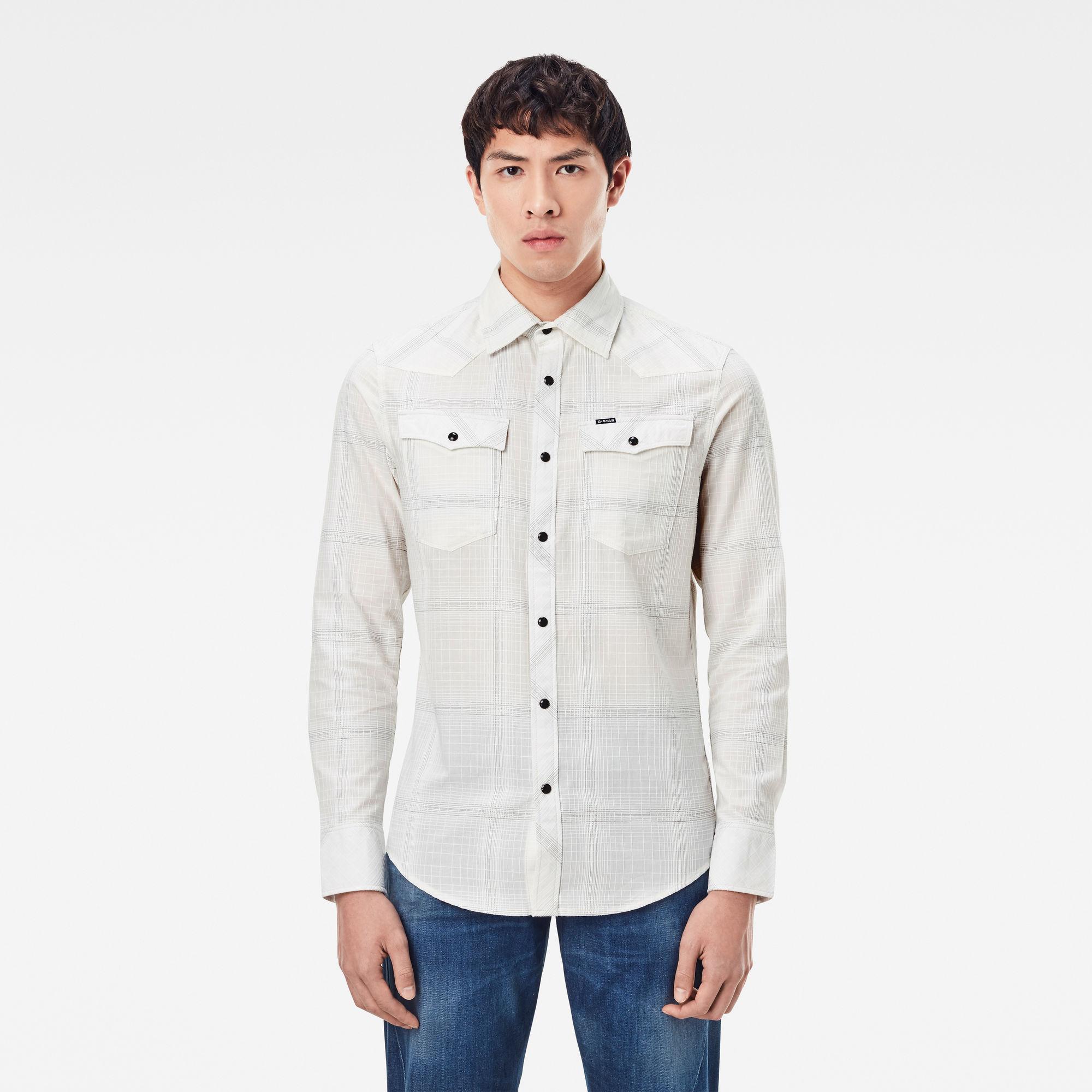 G-Star RAW Heren 3301 Slim Shirt Wit