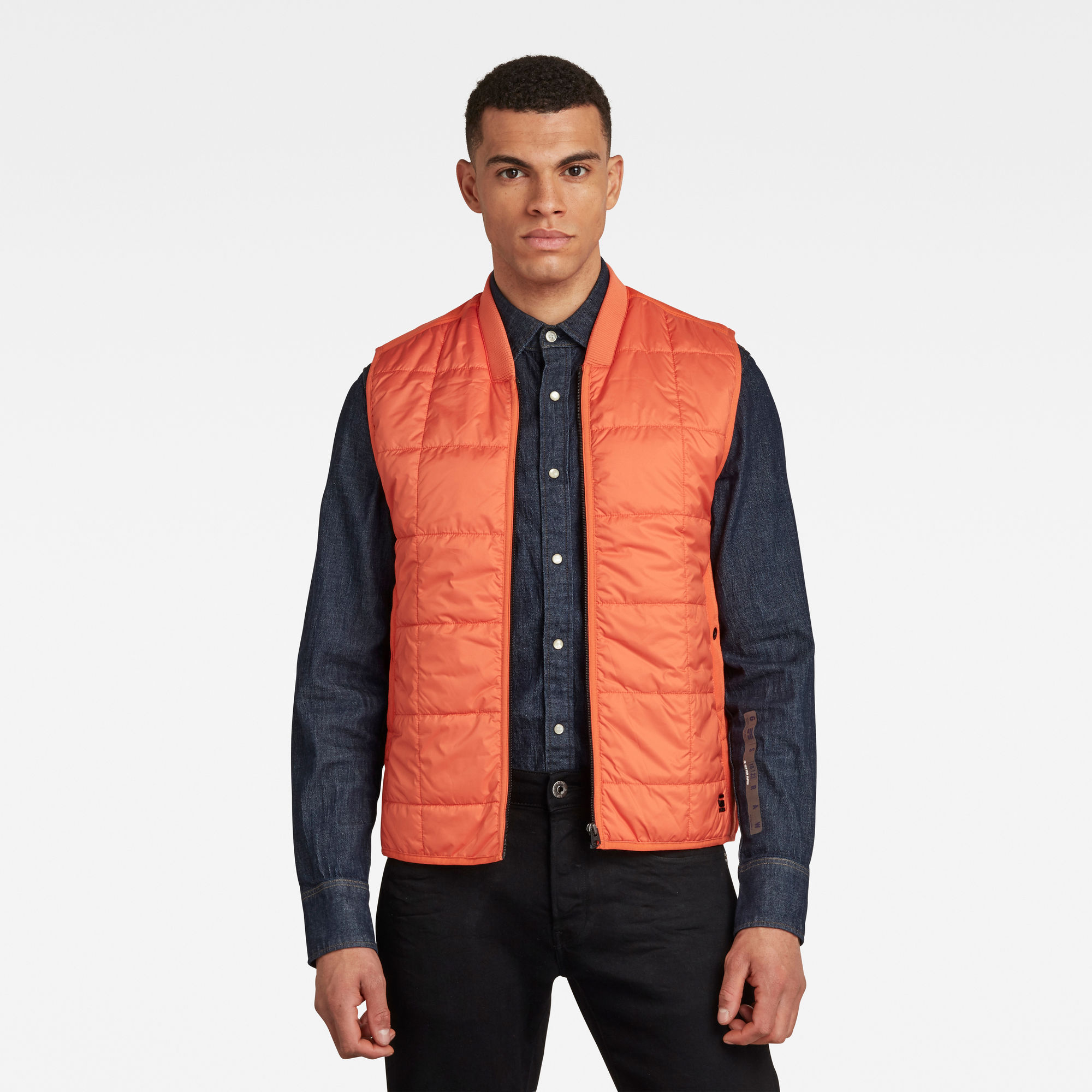G-Star RAW Heren Lightweight Quilted Vest Oranje