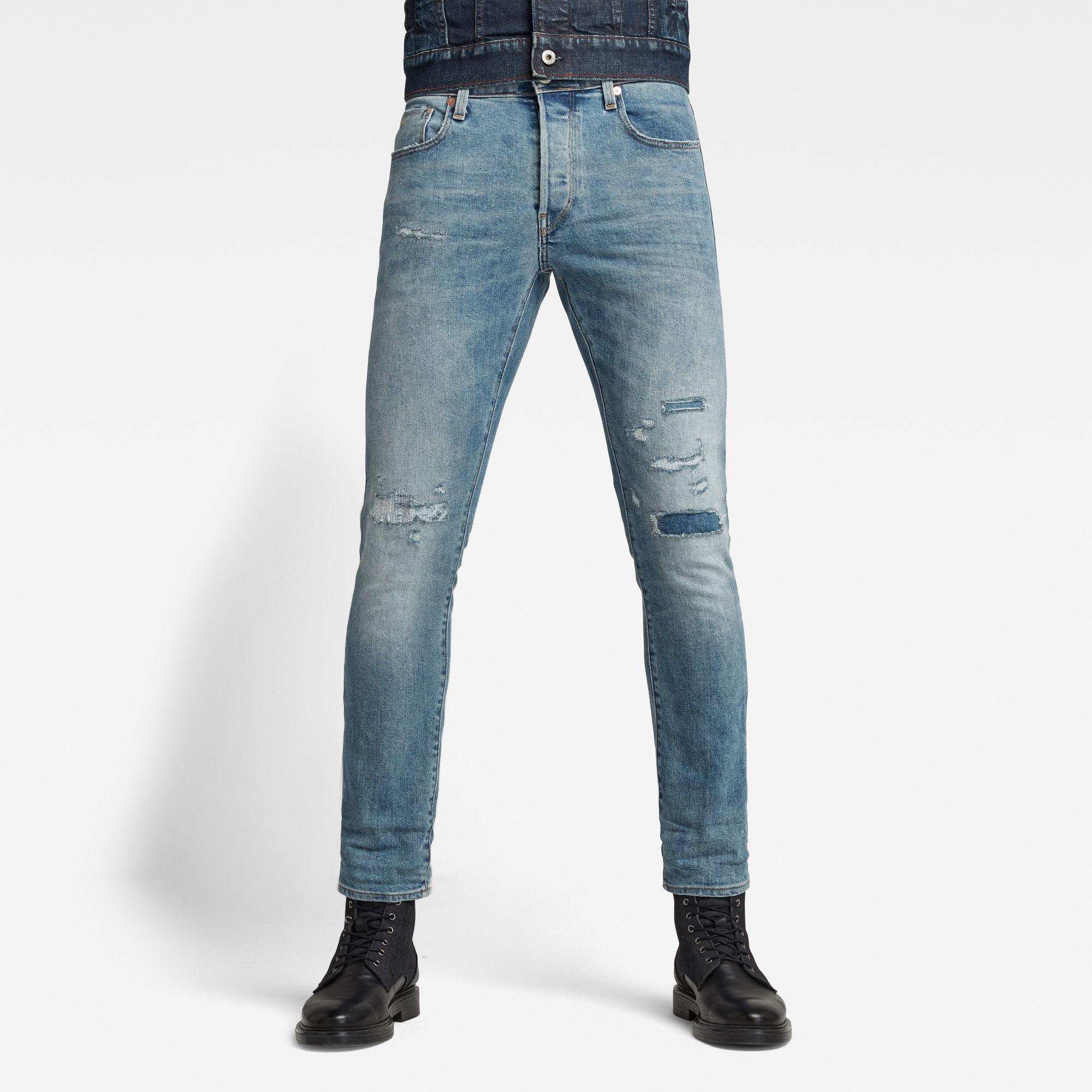 G-Star RAW Heren 3301 Slim Selvedge Jeans Lichtblauw