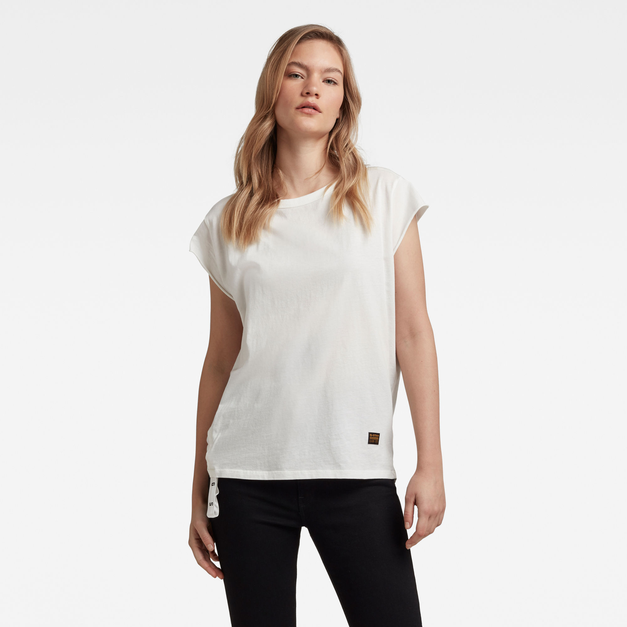 G-Star RAW Dames GSRAW Knotted Top Wit