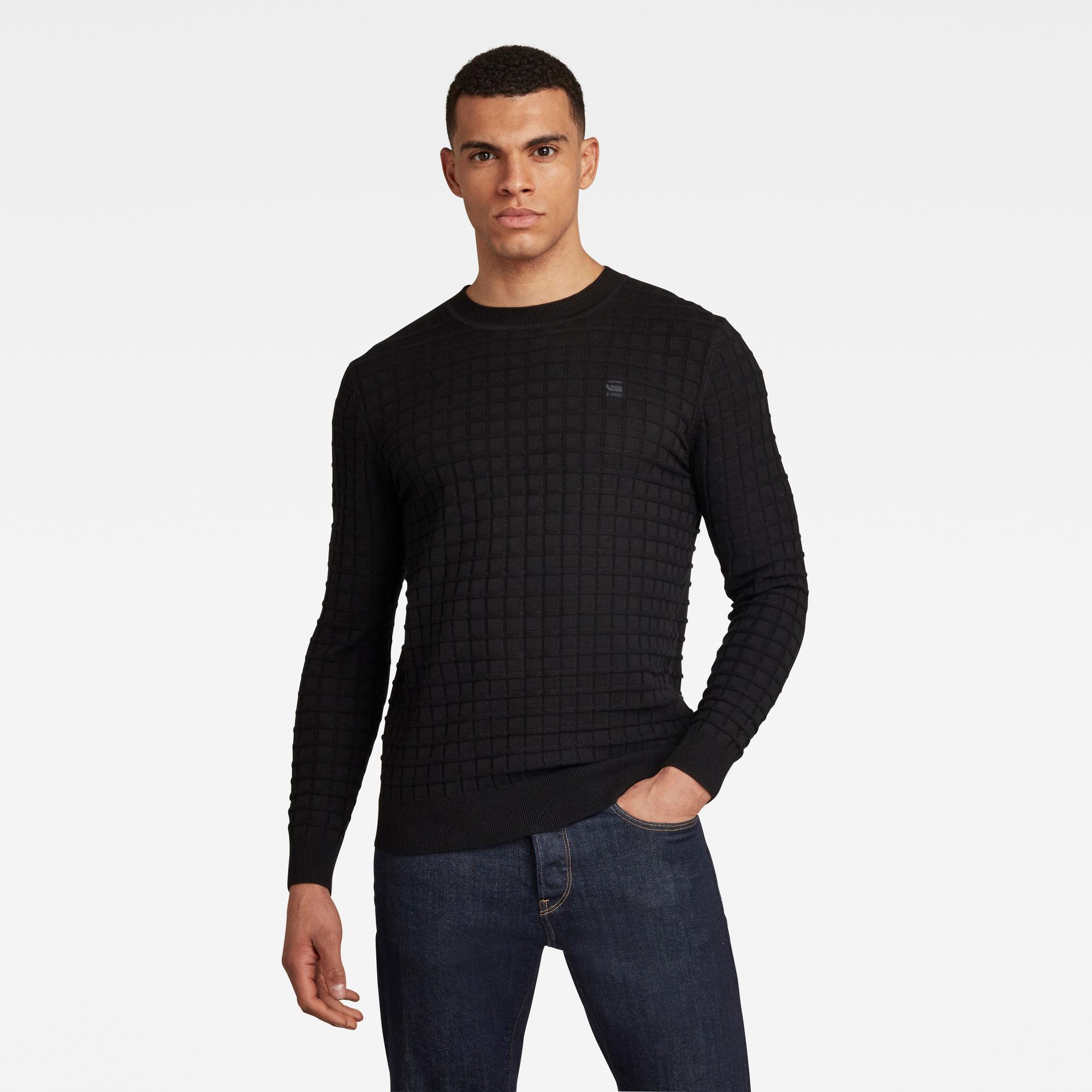 G-Star RAW Heren Core Table Sweater Zwart