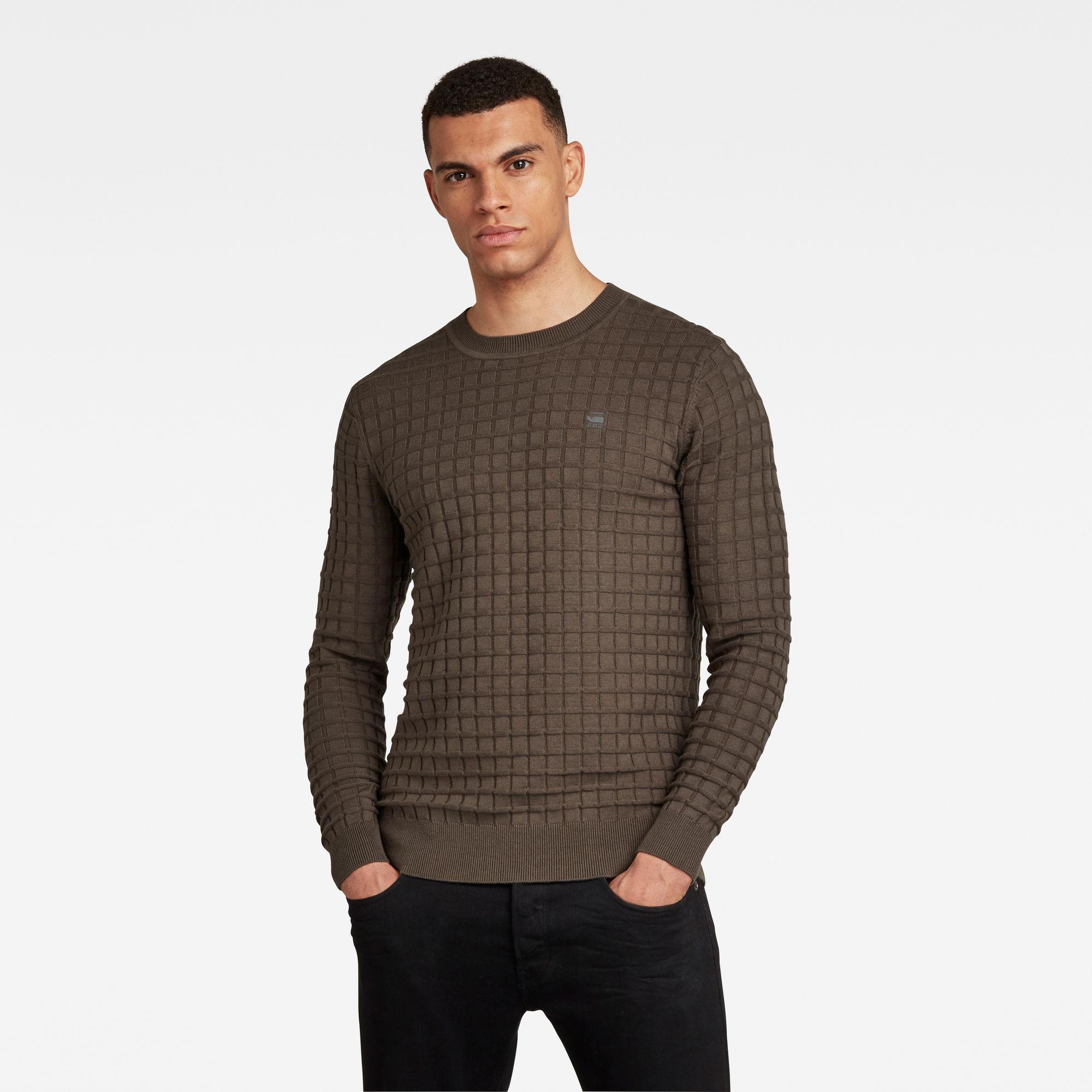 G-Star RAW Heren Core Table Sweater Grijs