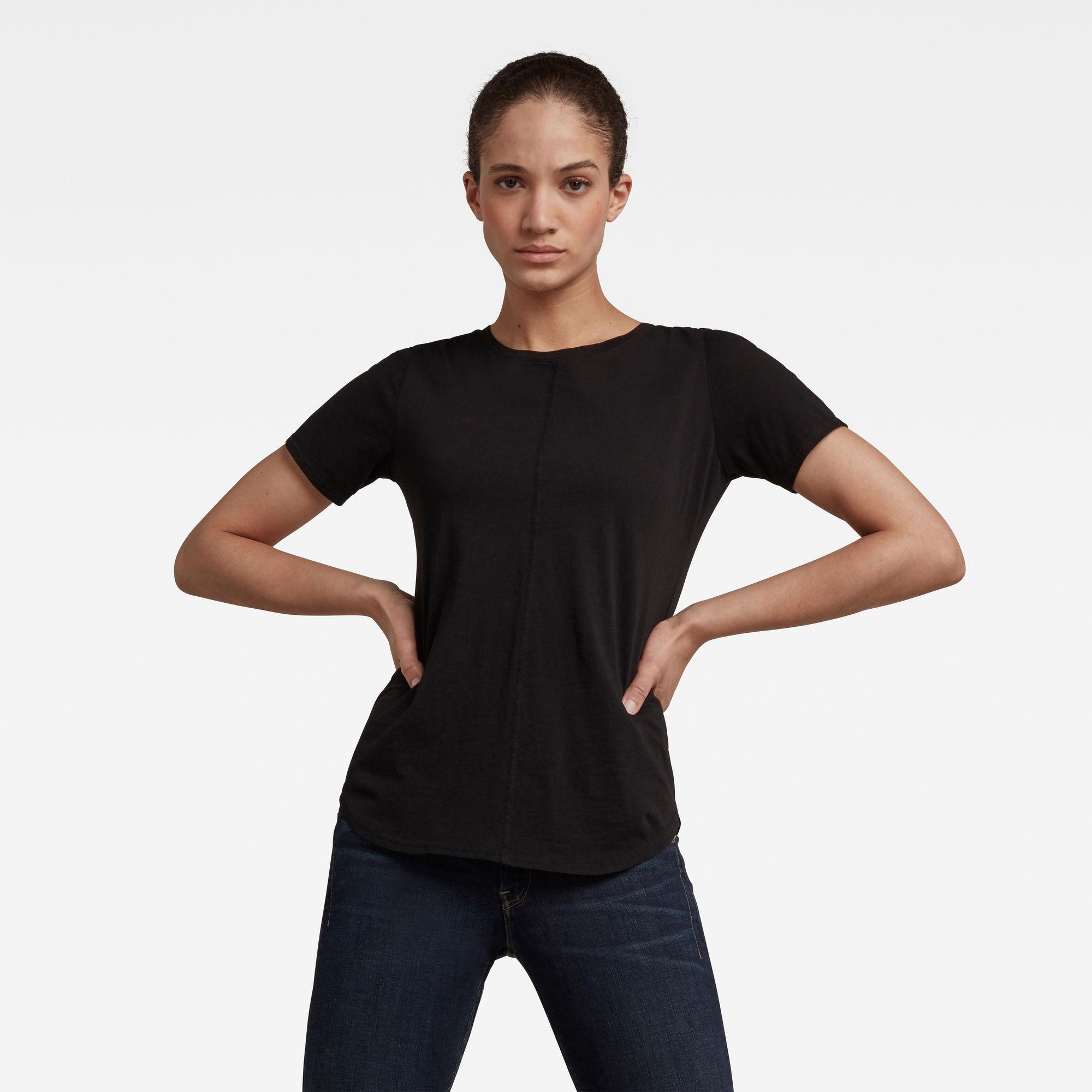 G-Star RAW Dames Adjustable Back Slim Fit Tee Zwart