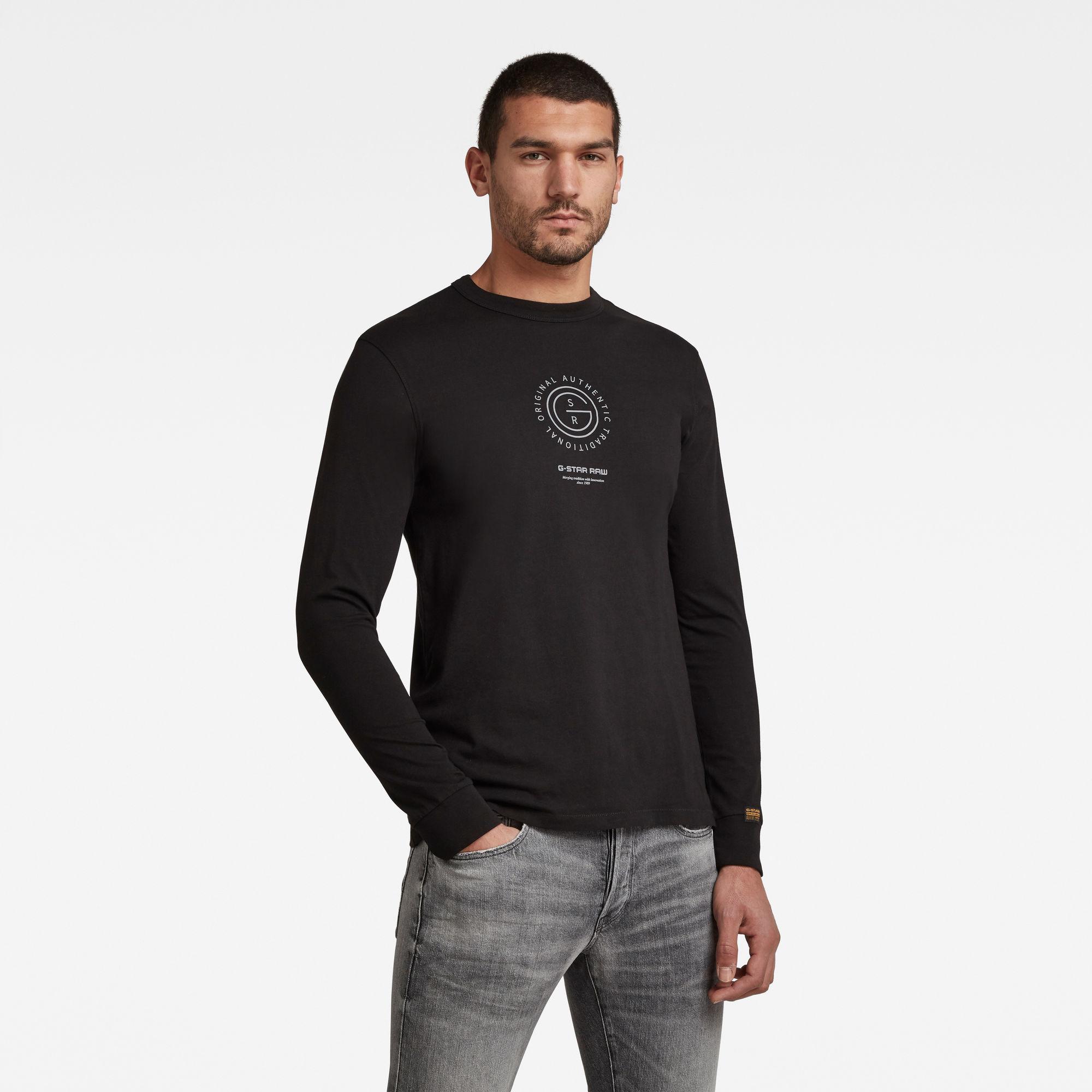 G-Star RAW Herren G-Star Reflective Multi Graphic T-Shirt Schwarz