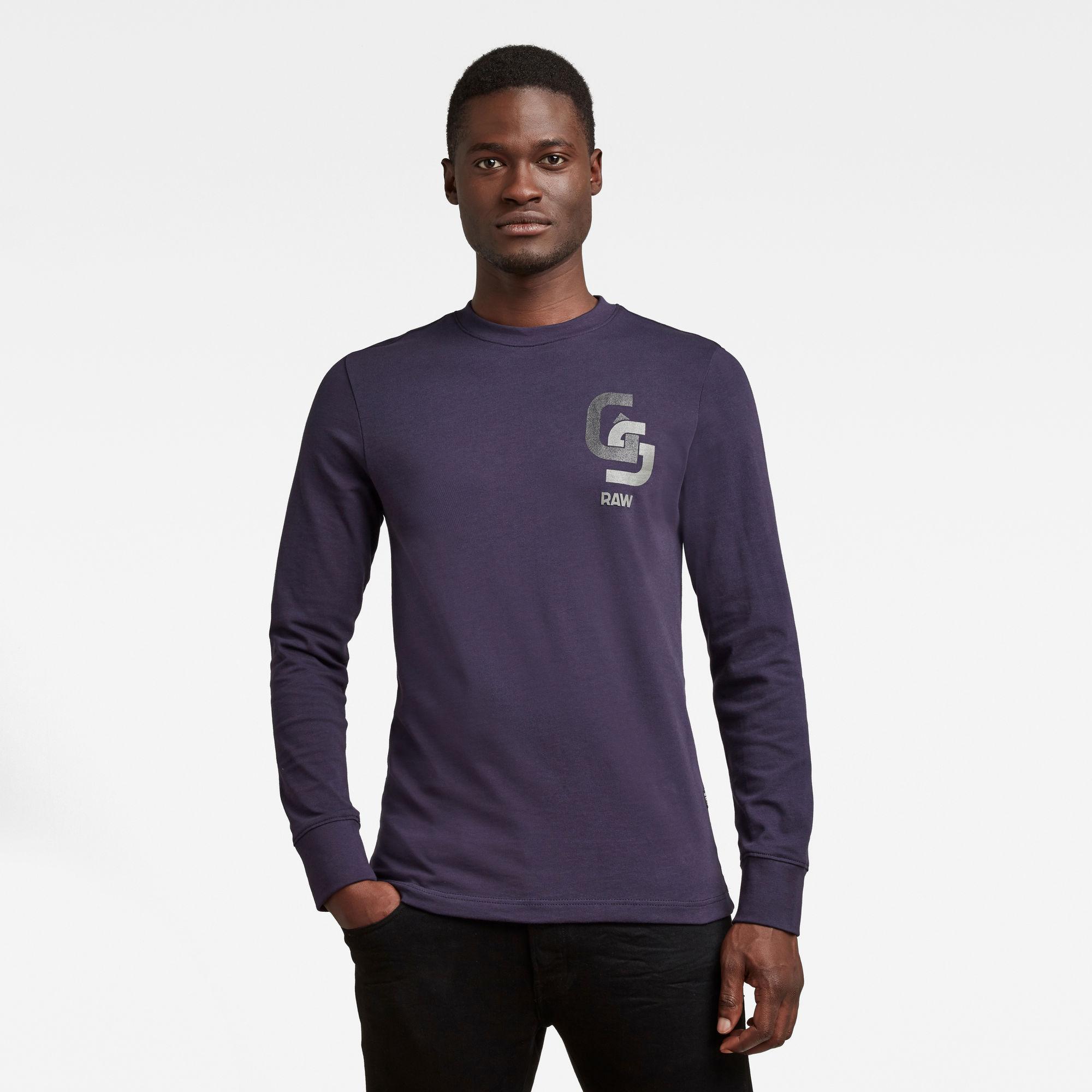 G-Star RAW Heren GS Chest Logo T-Shirt Donkerblauw