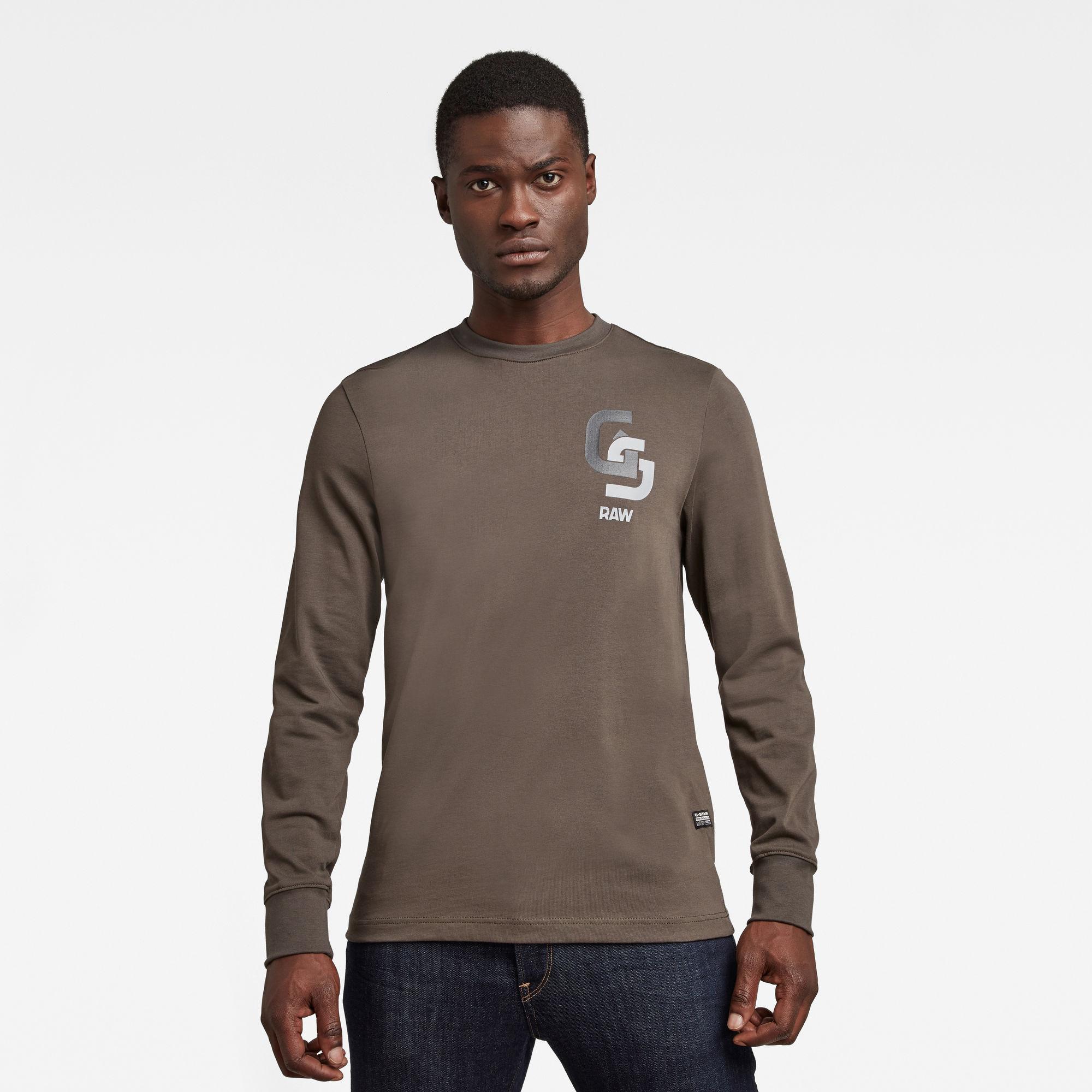 G-Star RAW Heren Base-R T-Shirt Grijs